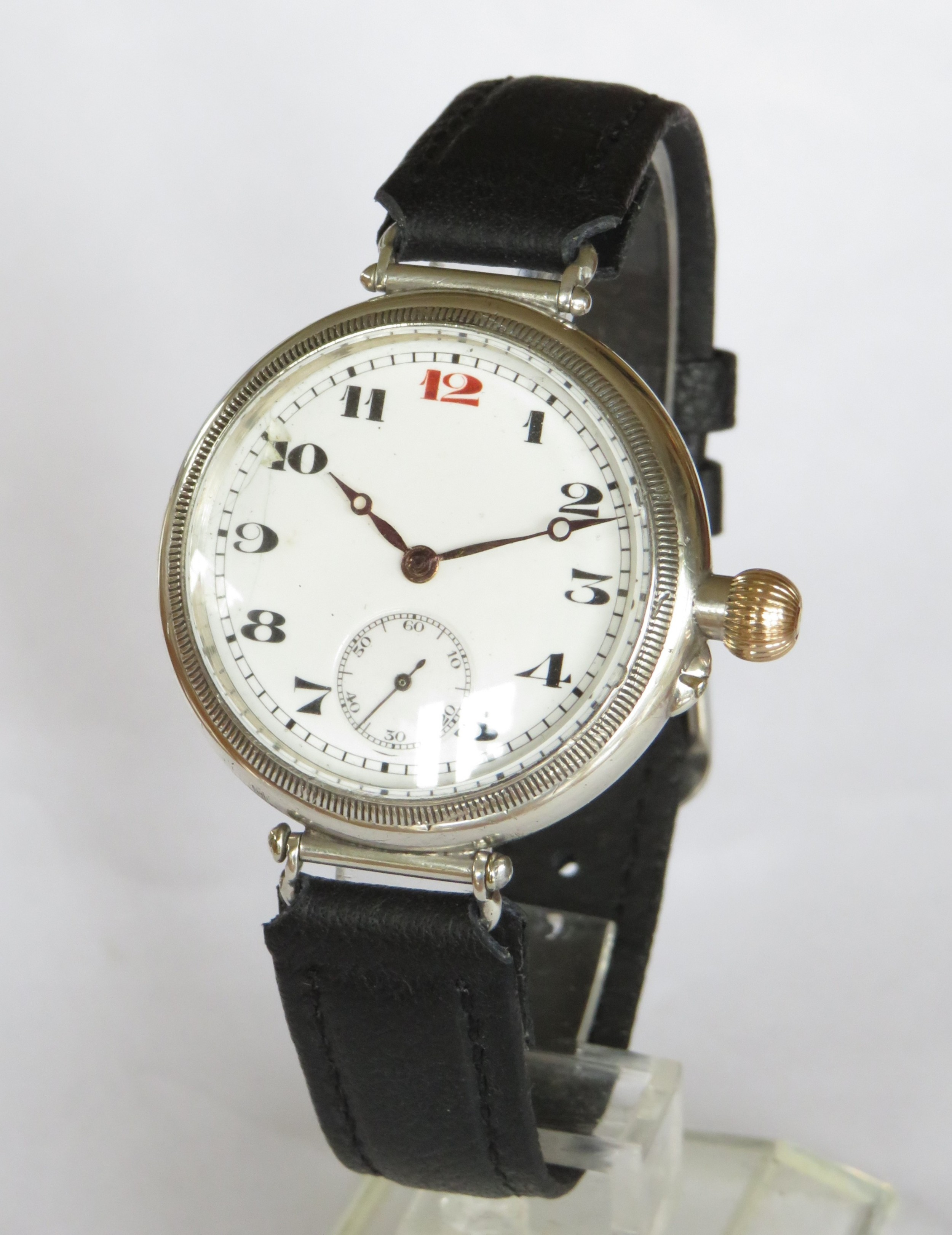 gents silver longines wrist watch 1924