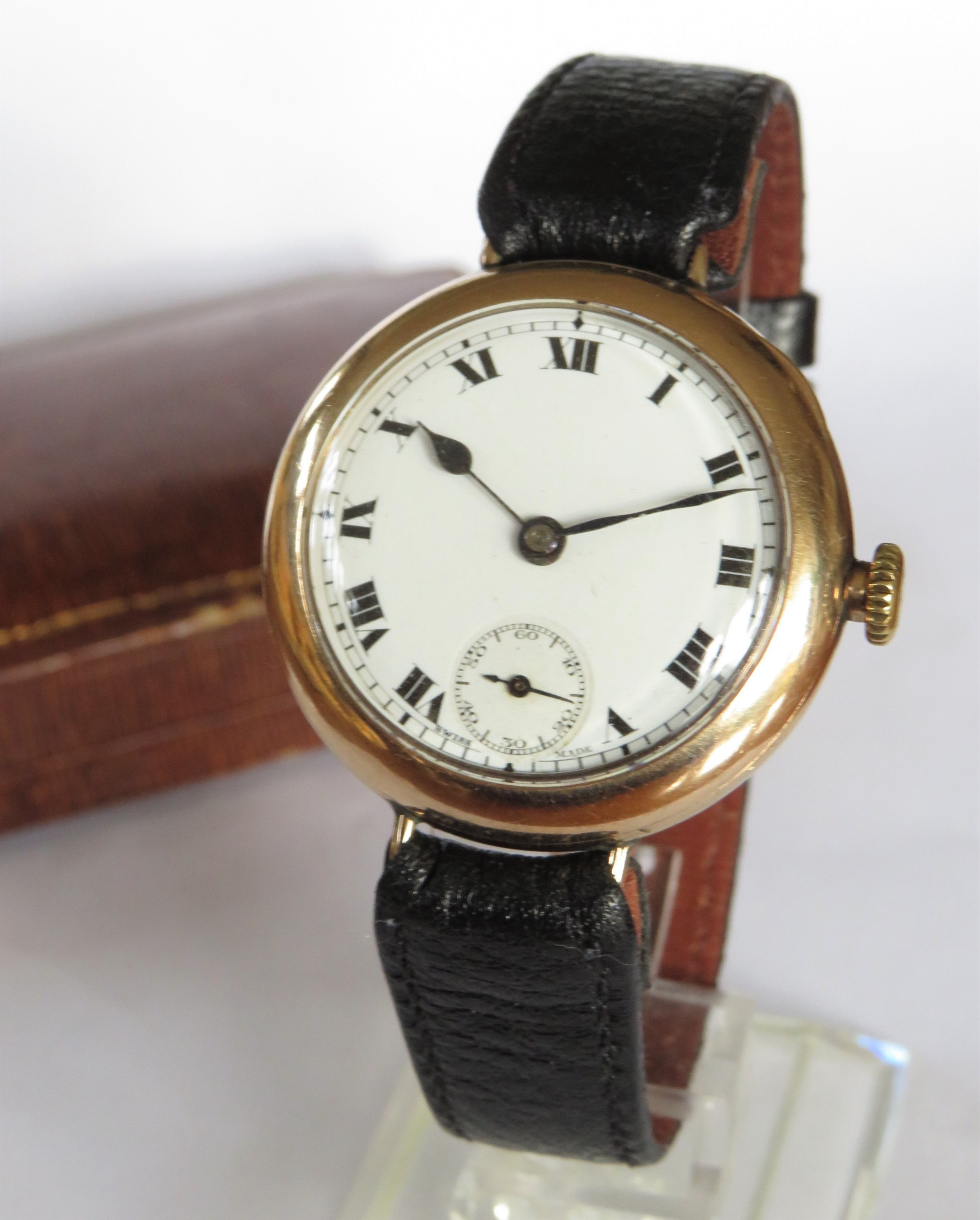gents 9ct gold omega wrist watch 1921