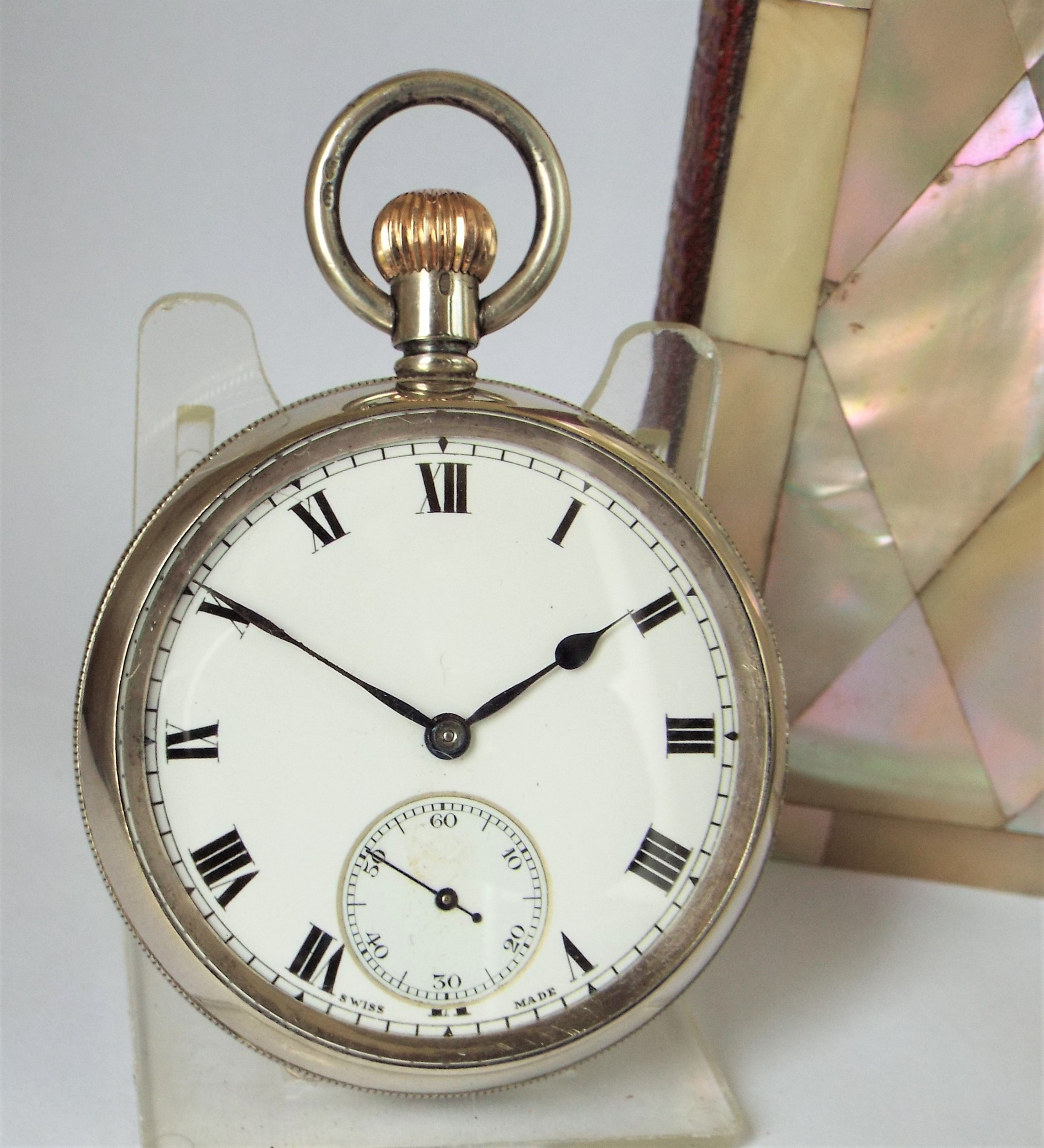 antique 1908 swiss silver pocket watch