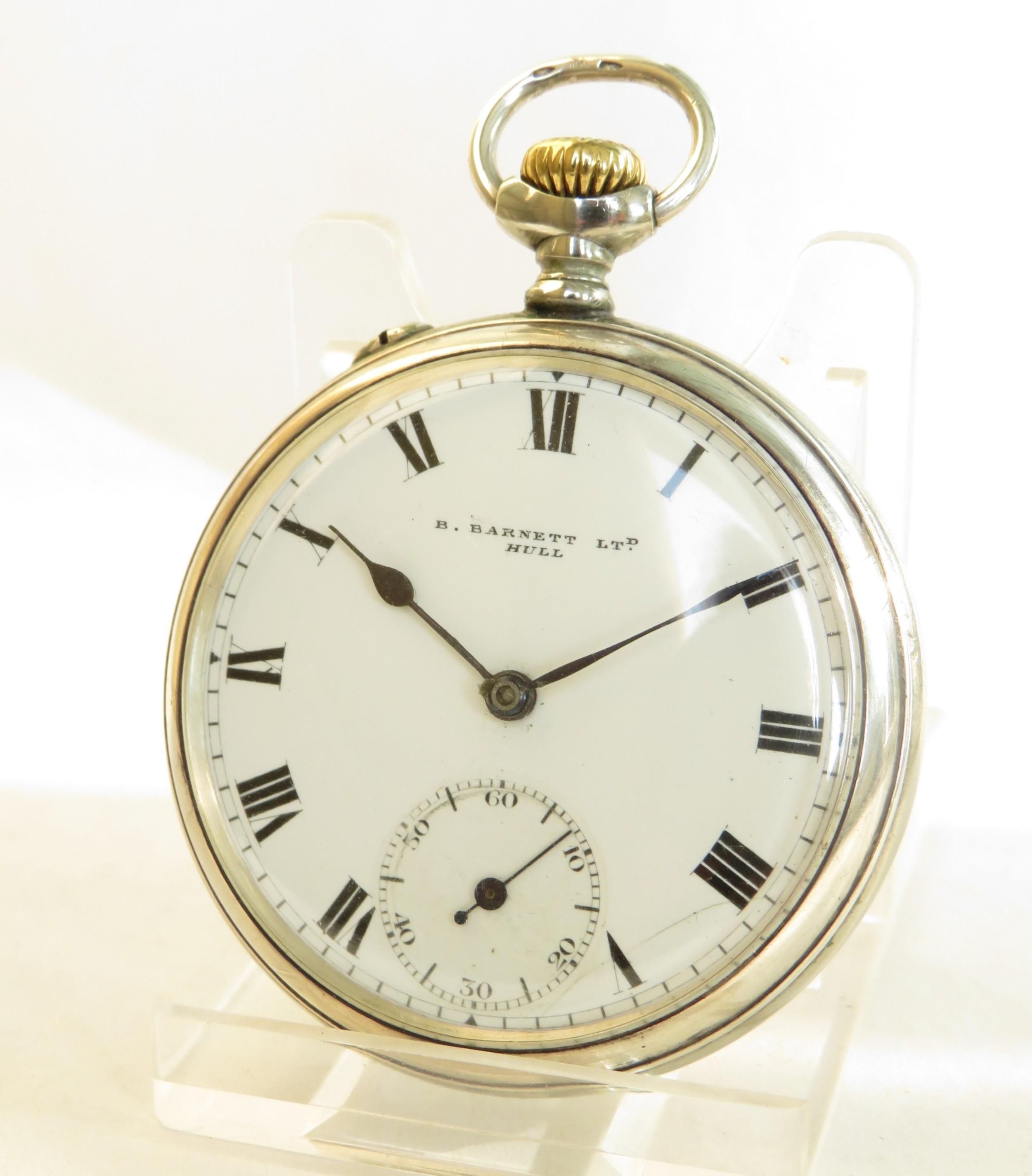 1930s junghans pocket watch b barnett hull