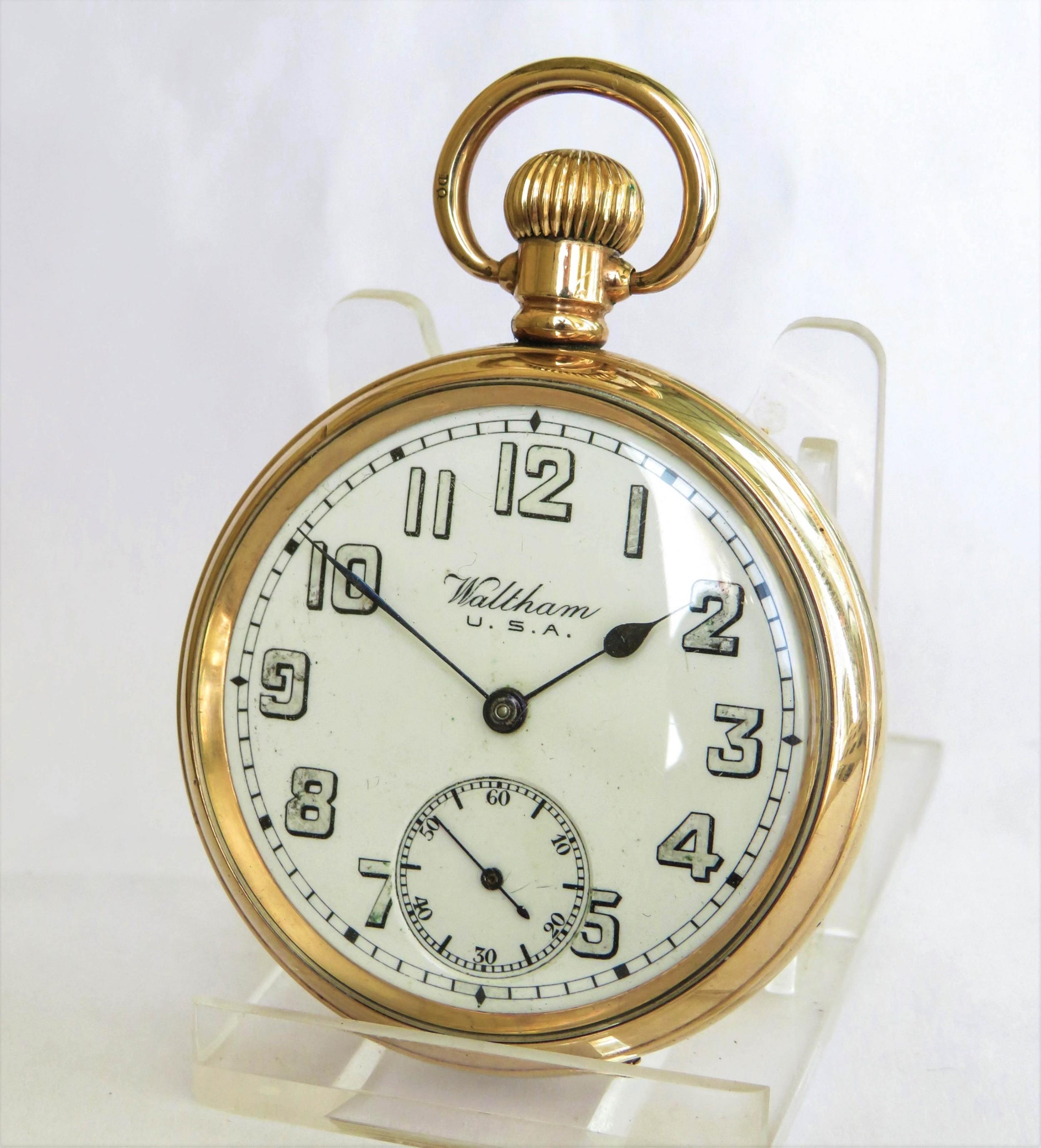 ww1 era waltham traveler pocket watch