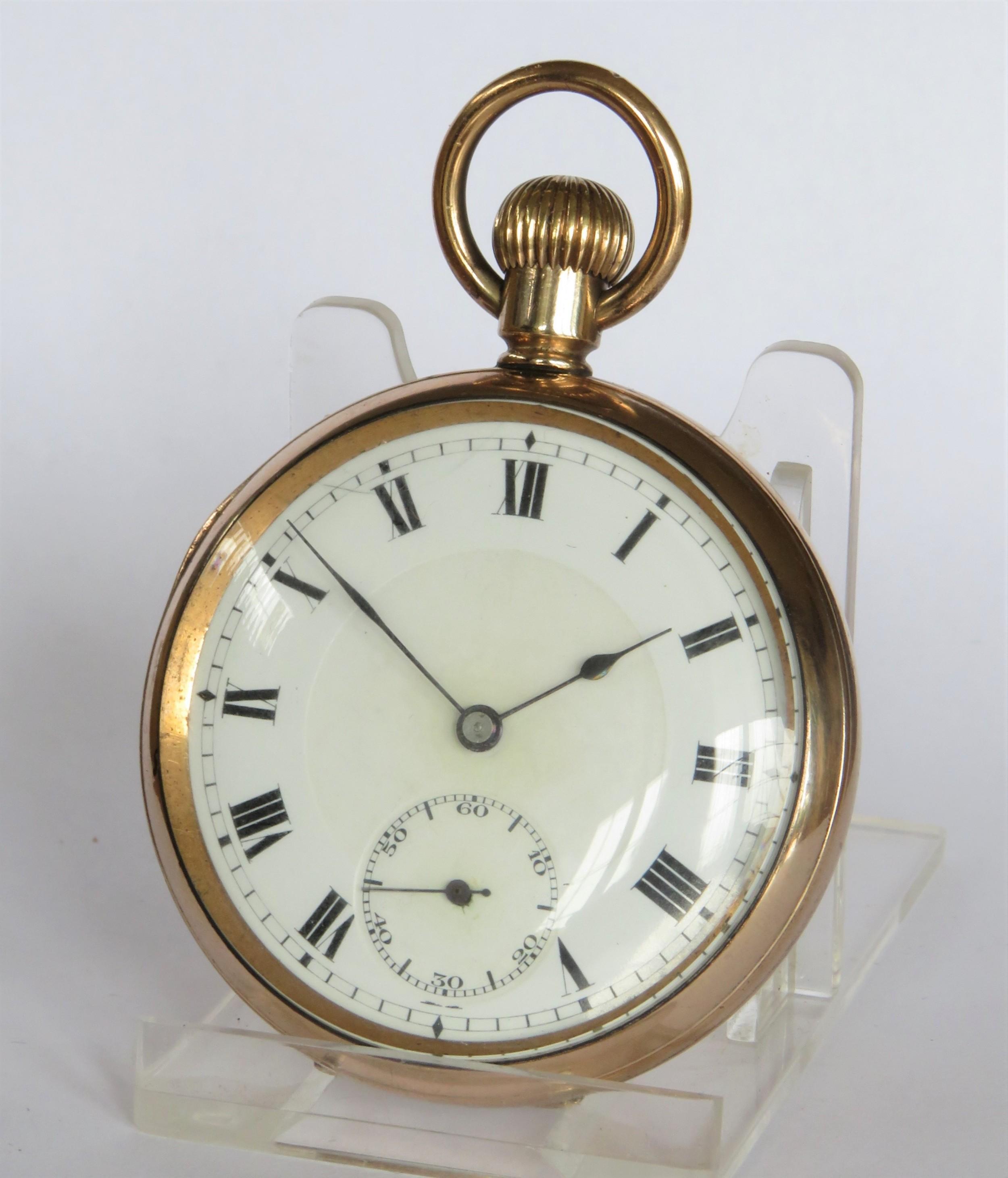 antique swiss gold filled pocket watch
