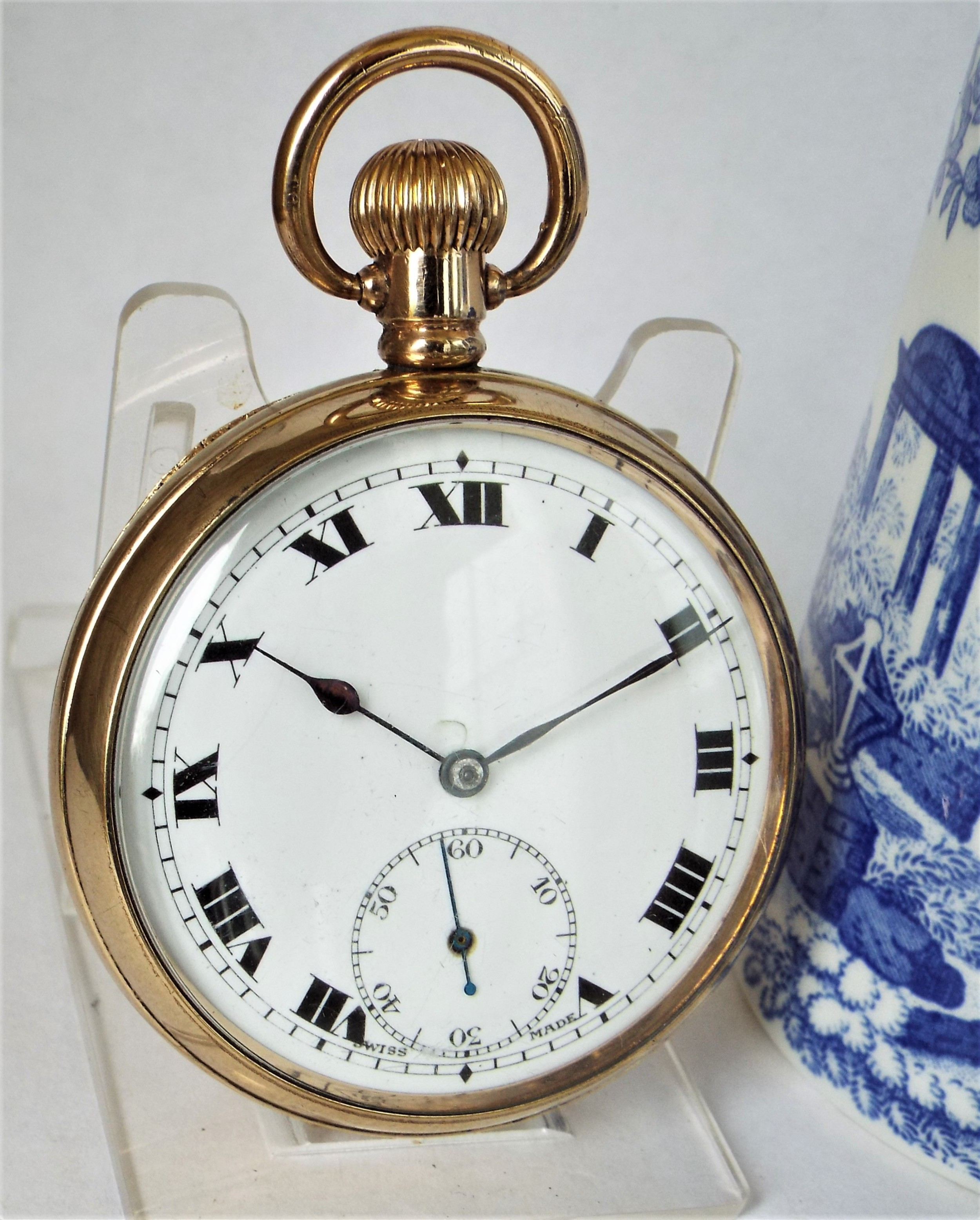 antique 1920s swiss pocket watch