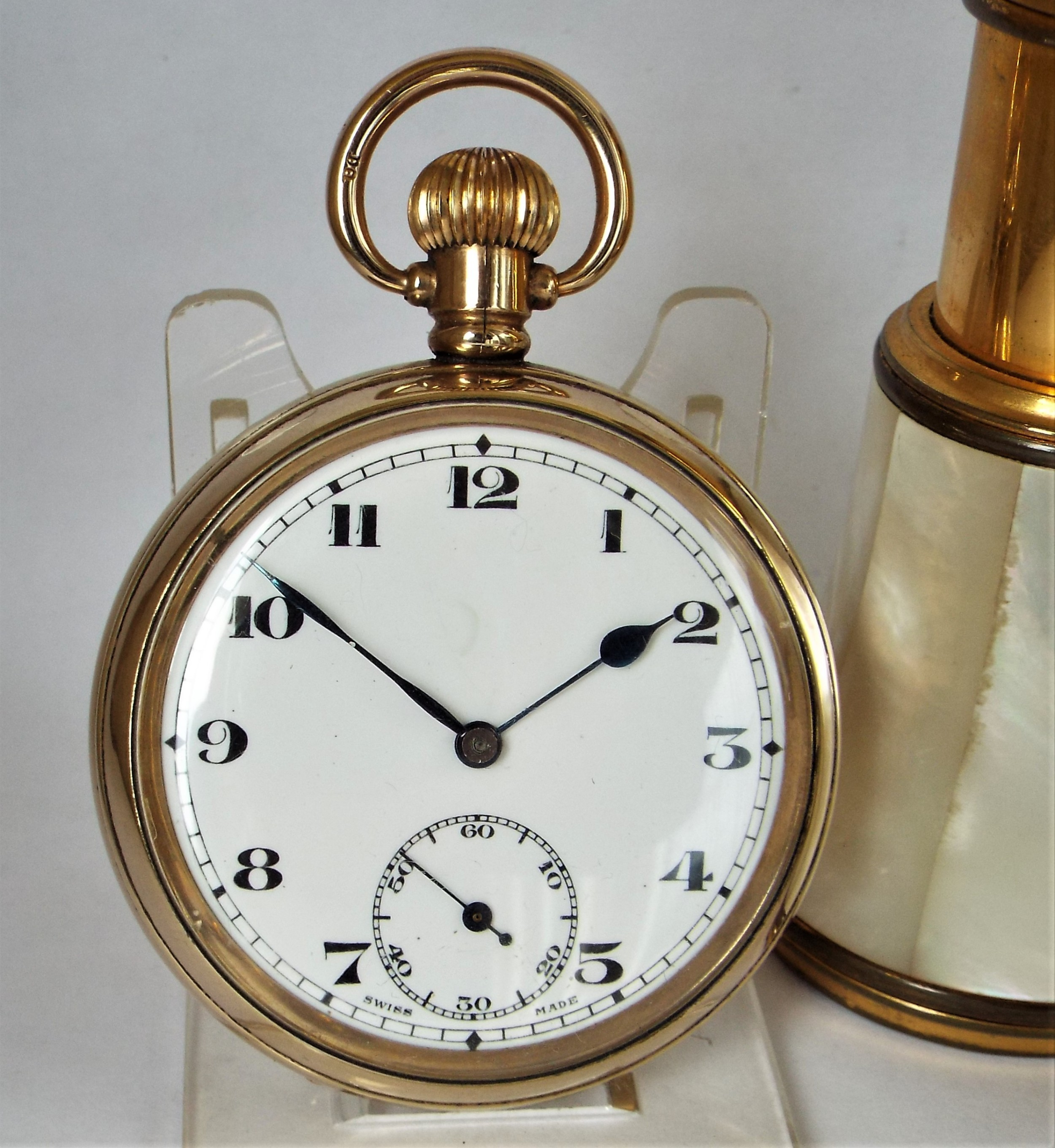 antique 1920s swiss pocket watch
