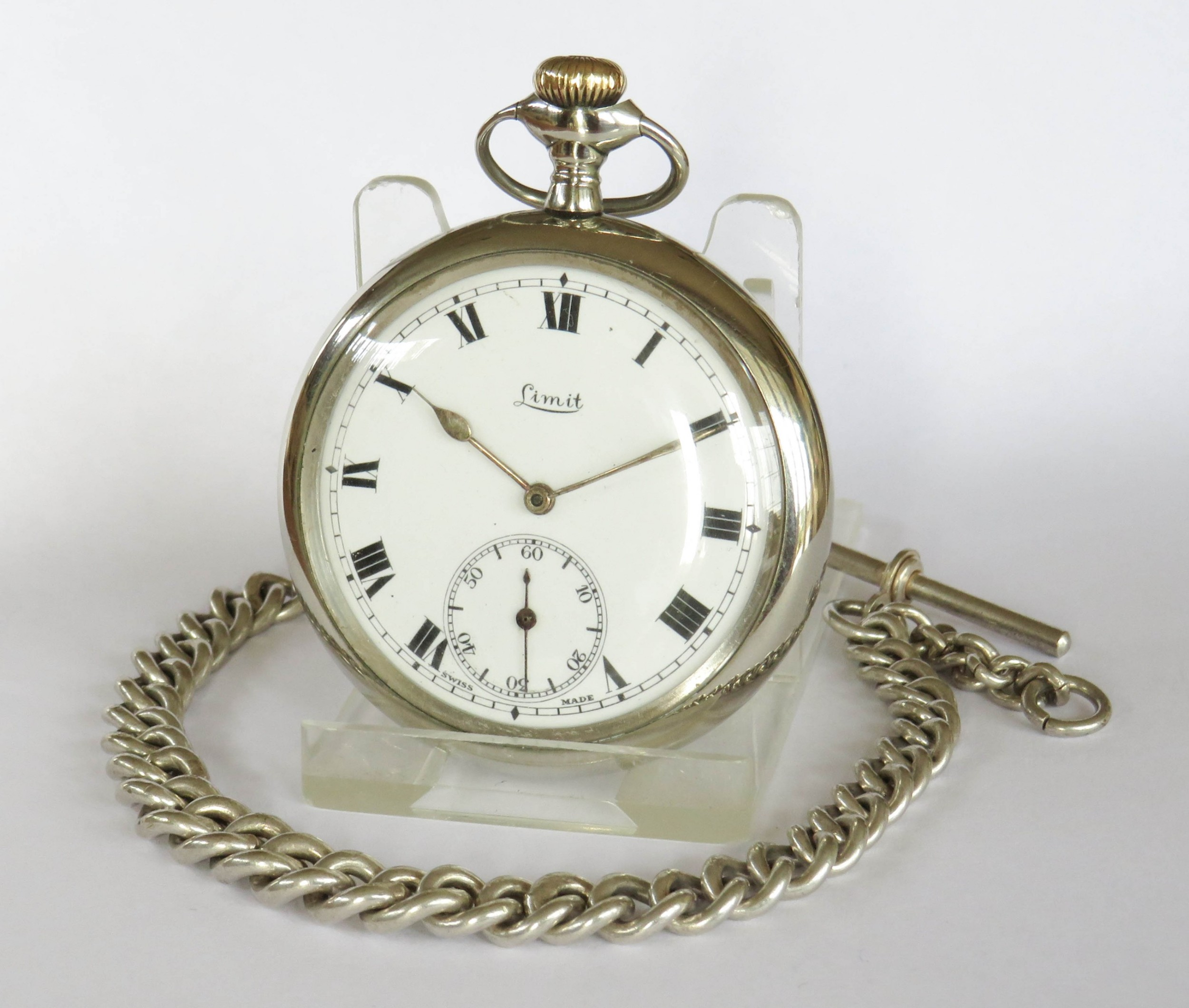 antique limit pocket watch and chain