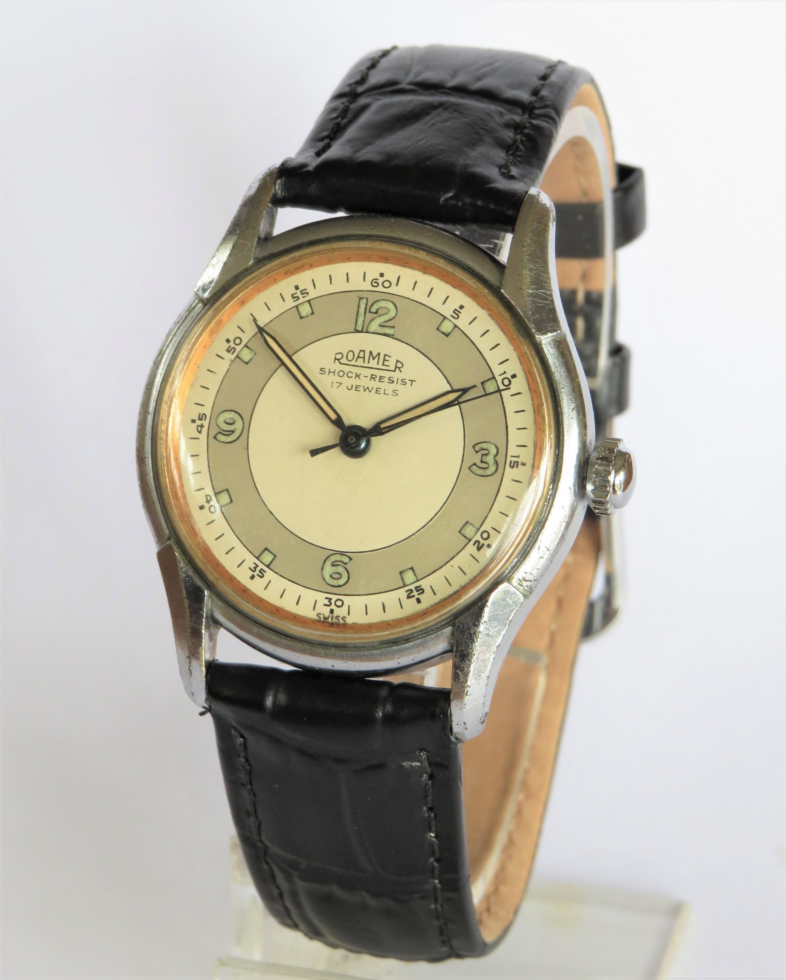gents 1950s roamer wrist watch