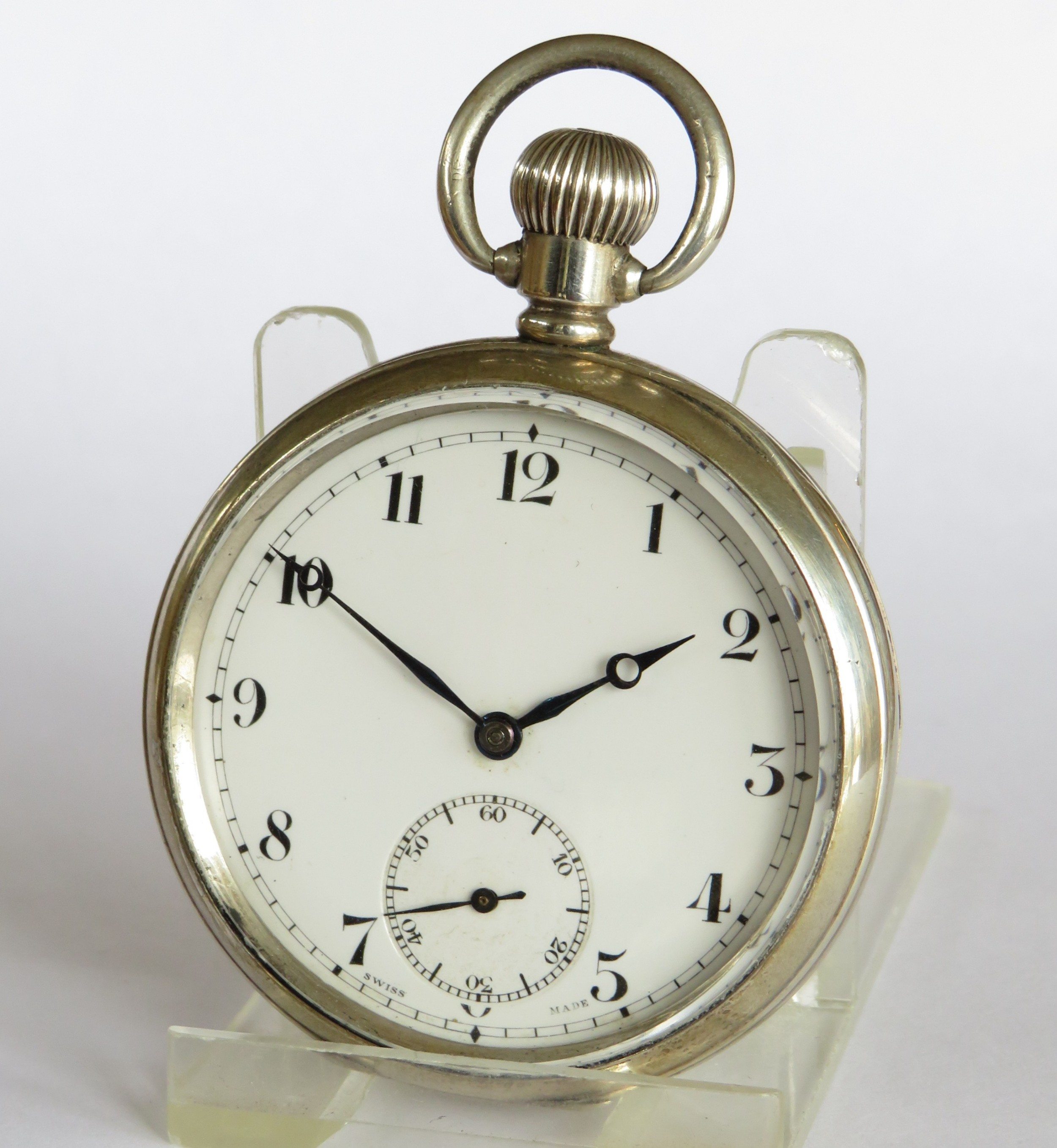 1930s silver cyma pocket watch