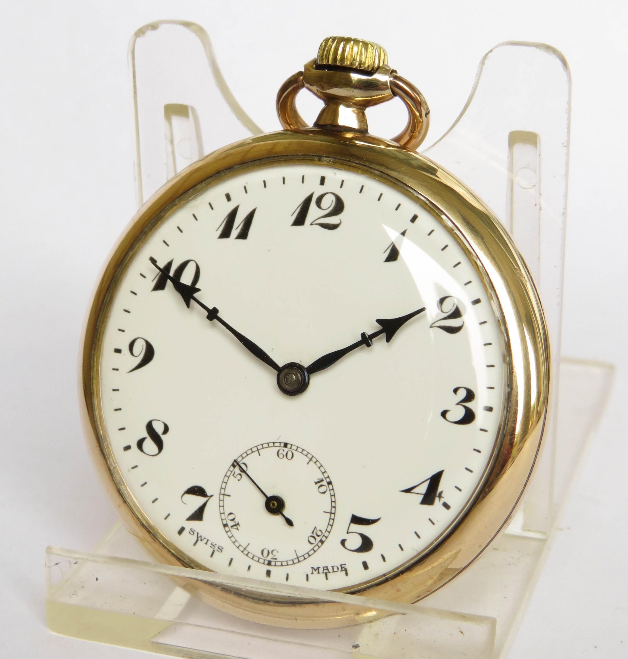 1930s unitas stem winding pocket watch