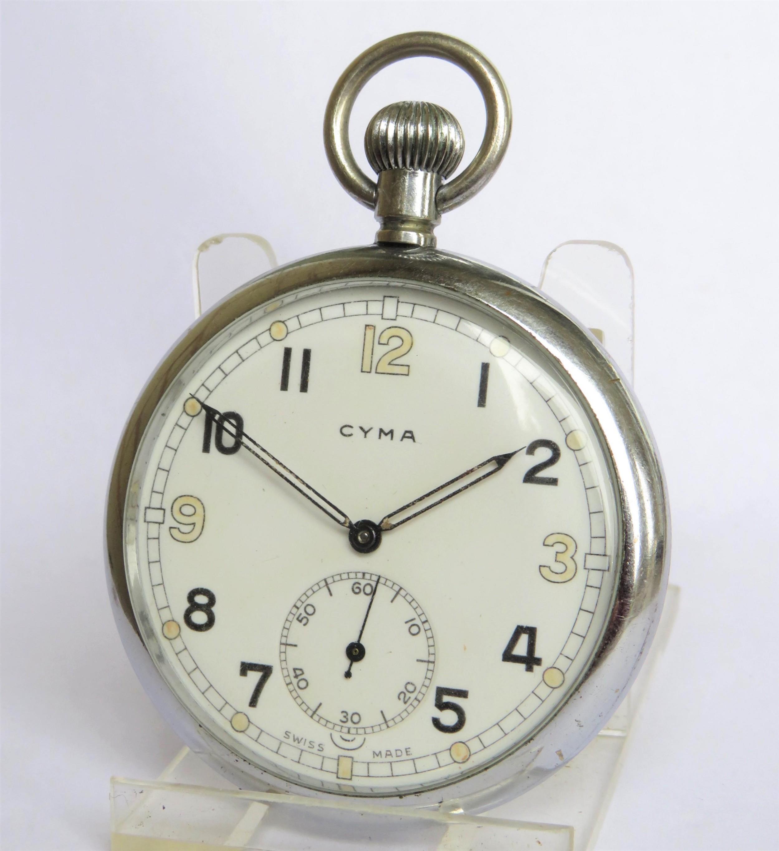 1940s cyma military pocket watch