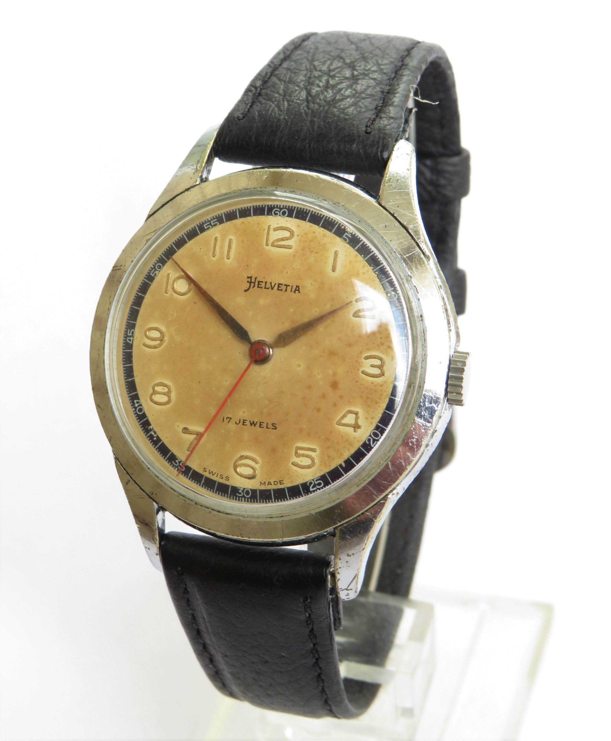 gents 1950s helvetia wristwatch