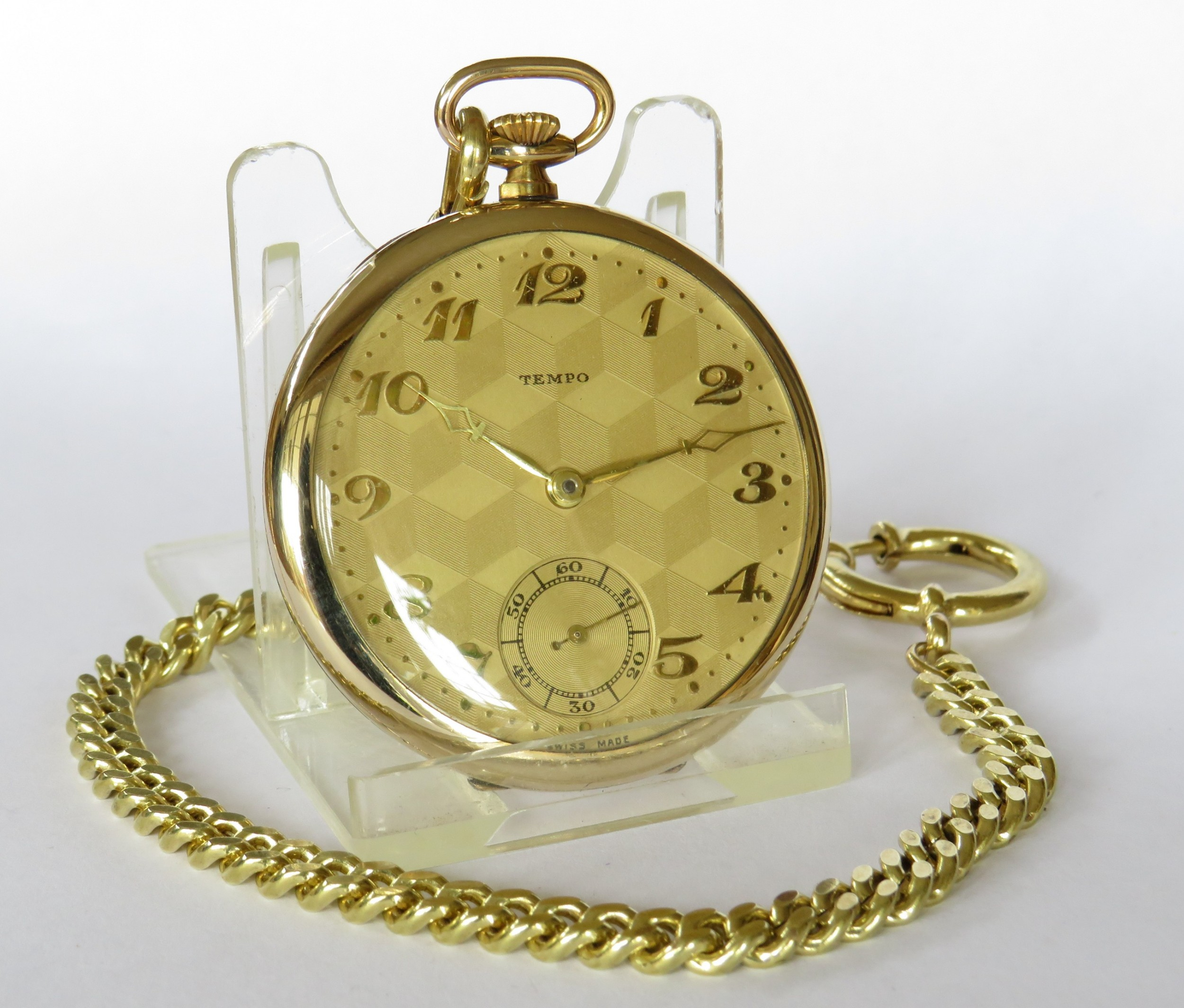 a 1930s tempo pocket watch chain