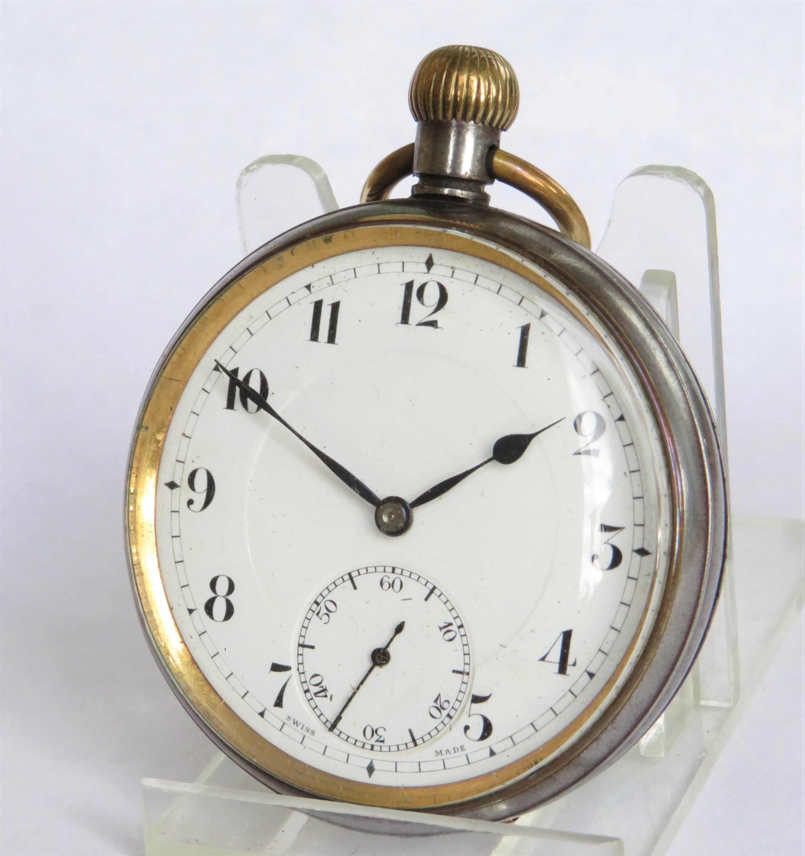 antique gun metal doxa pocket watch