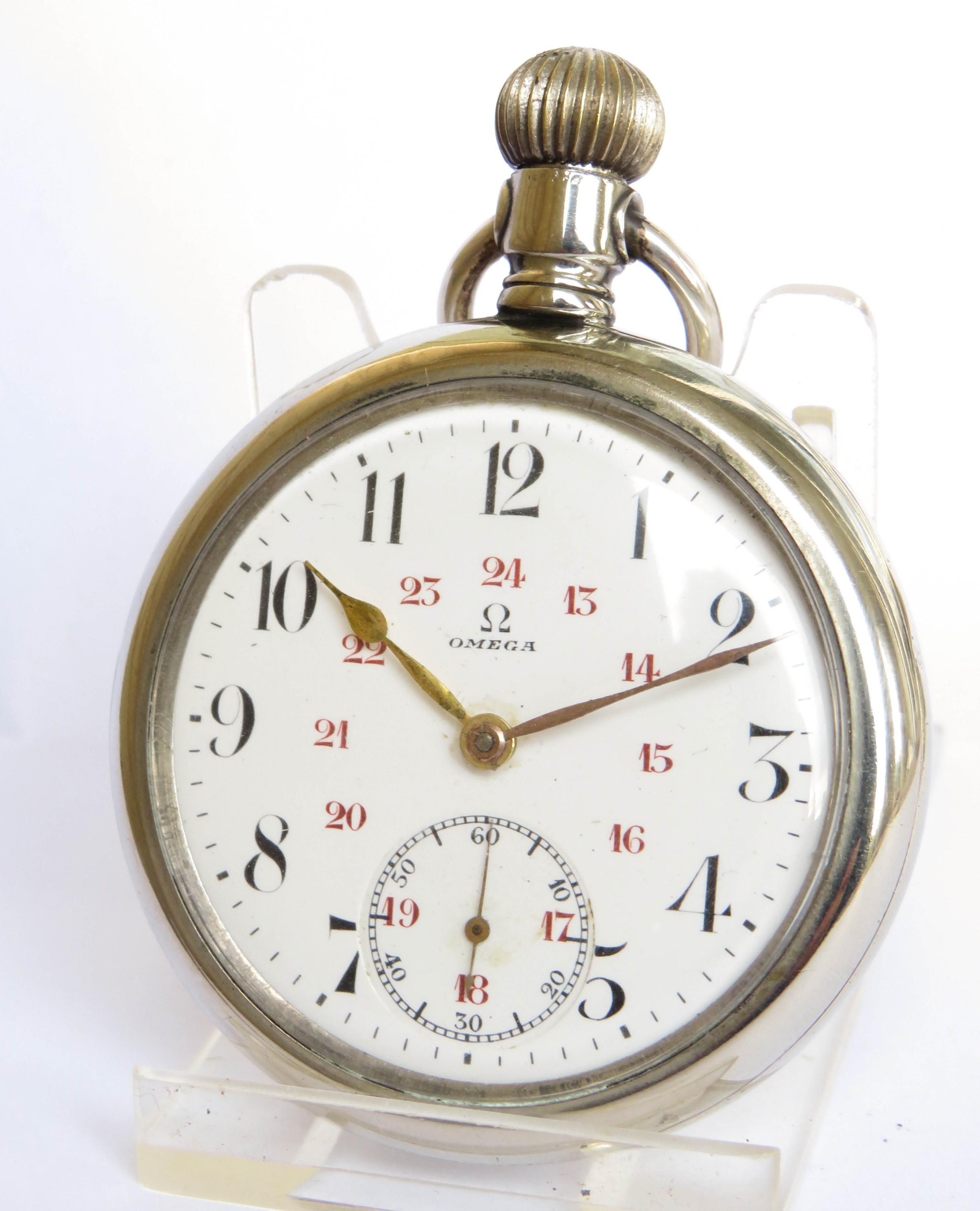 antique omega pocket watch c1914