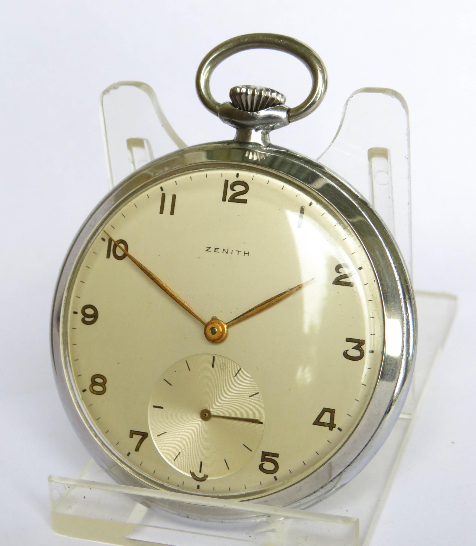 1950s zenith pocket watch