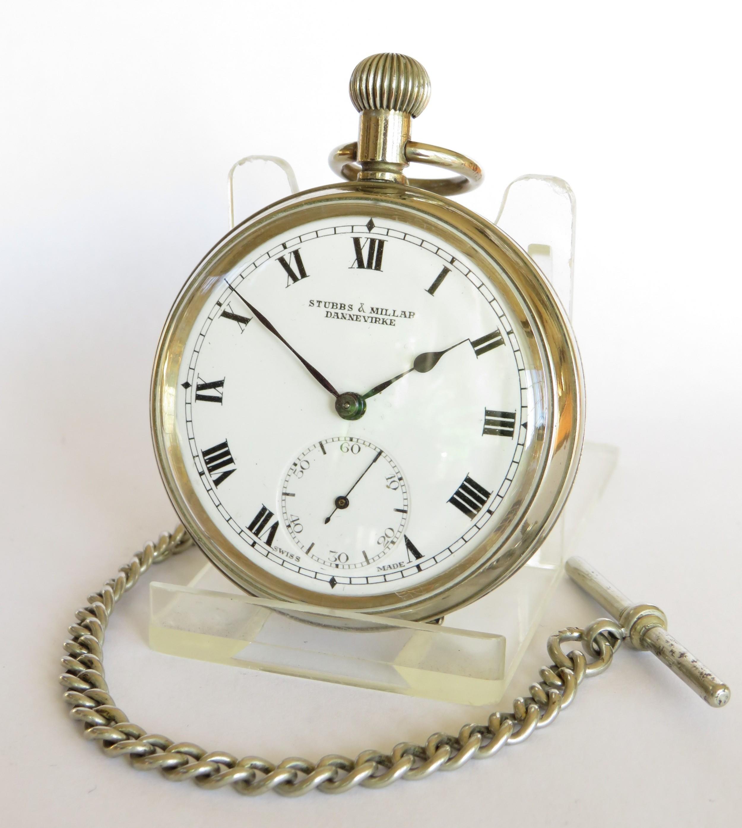 stubbs millar dannevirke pocket watch chain