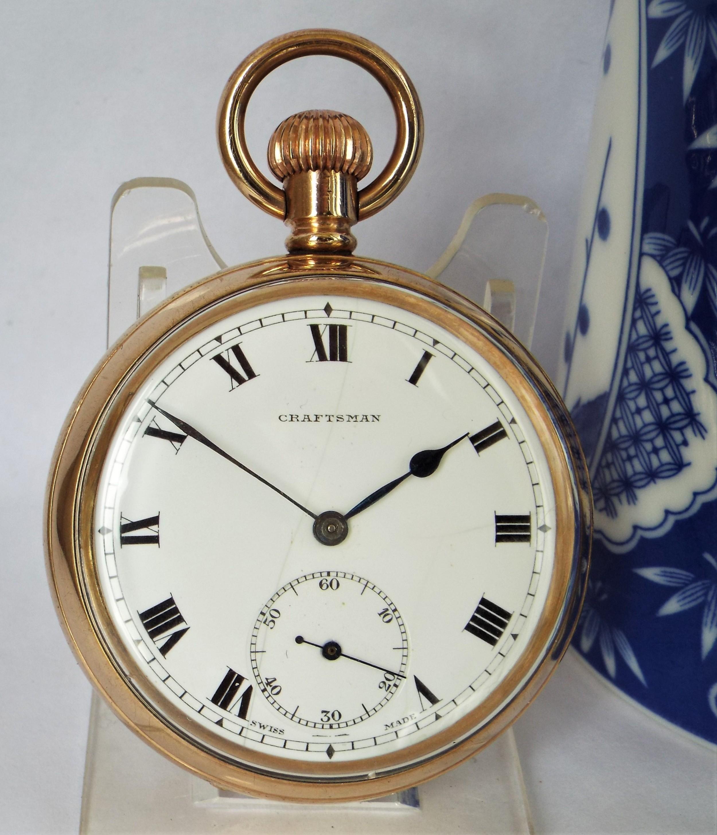 1930s craftsman pocket watch