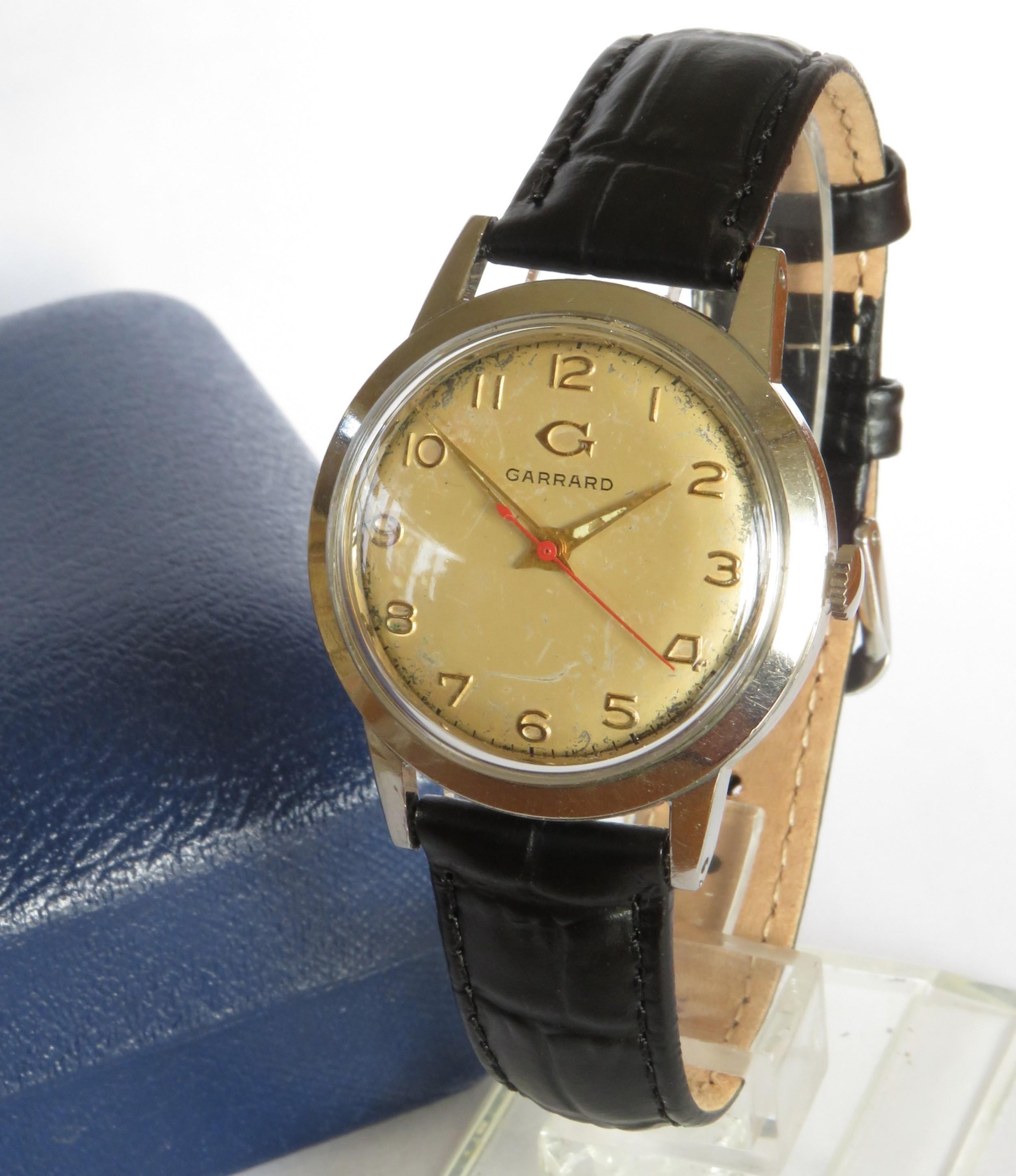 gents garrard wrist watch c1960