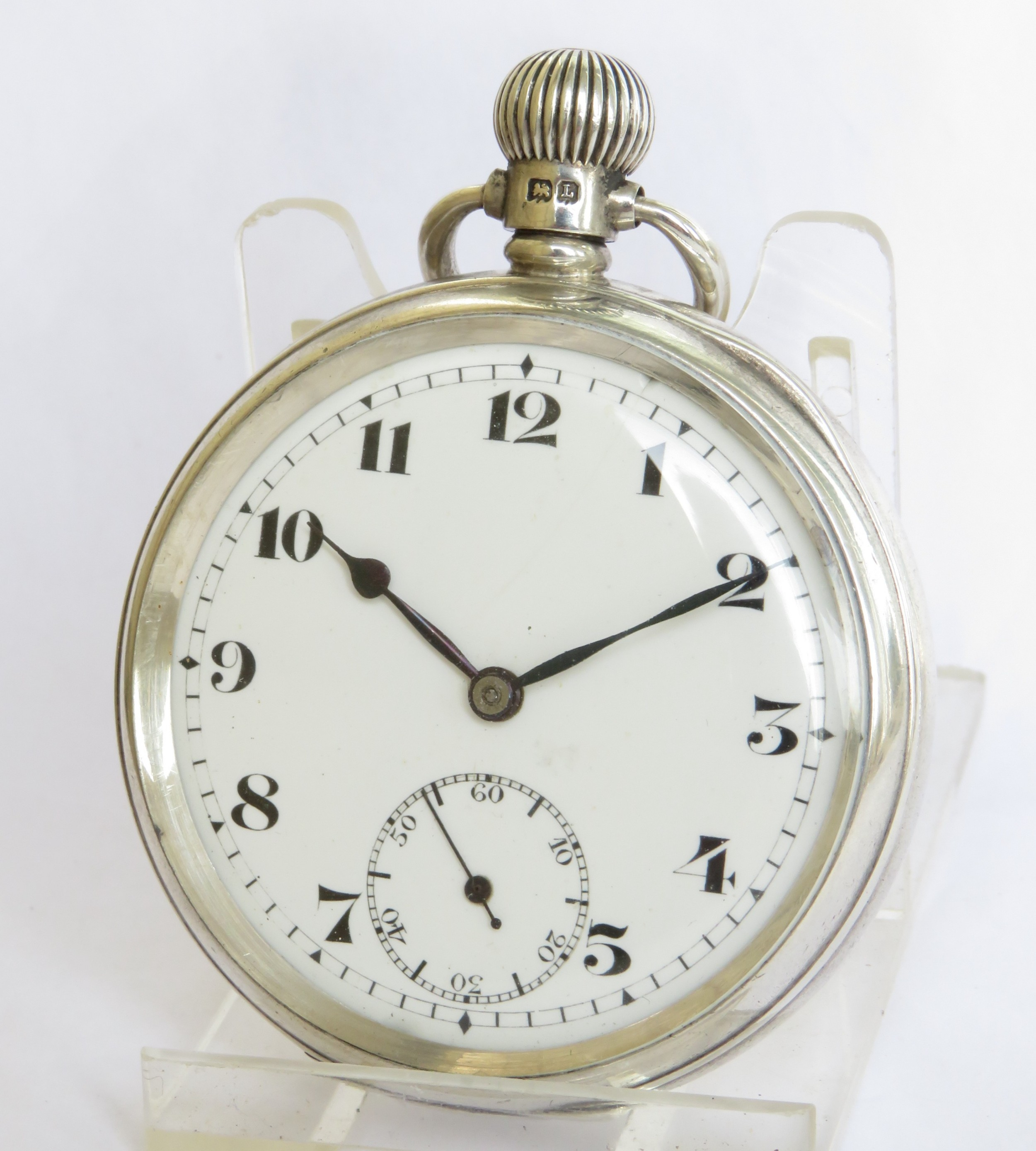 antique silver record pocket watch 1935