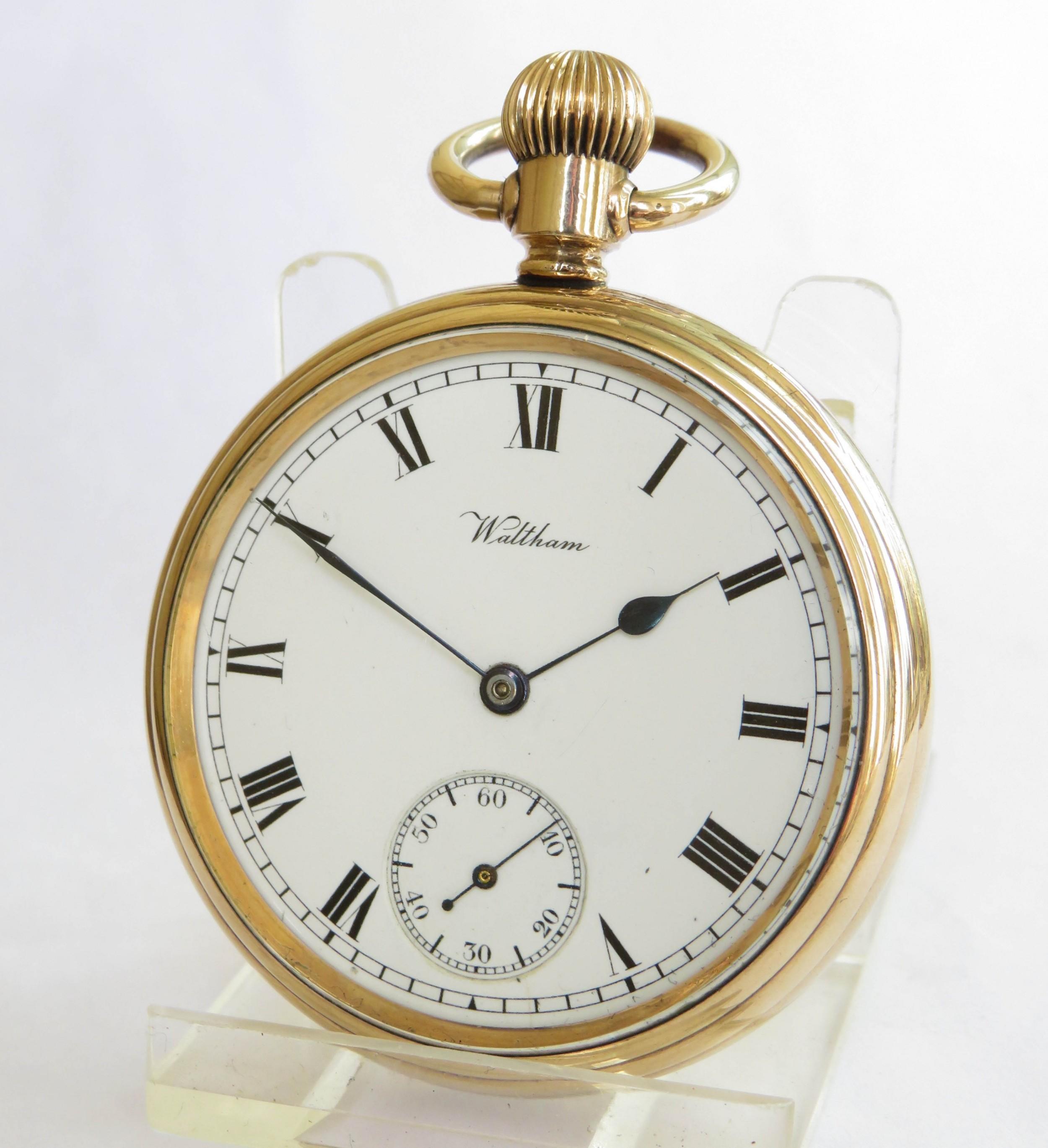 antique waltham pocket watch 1912