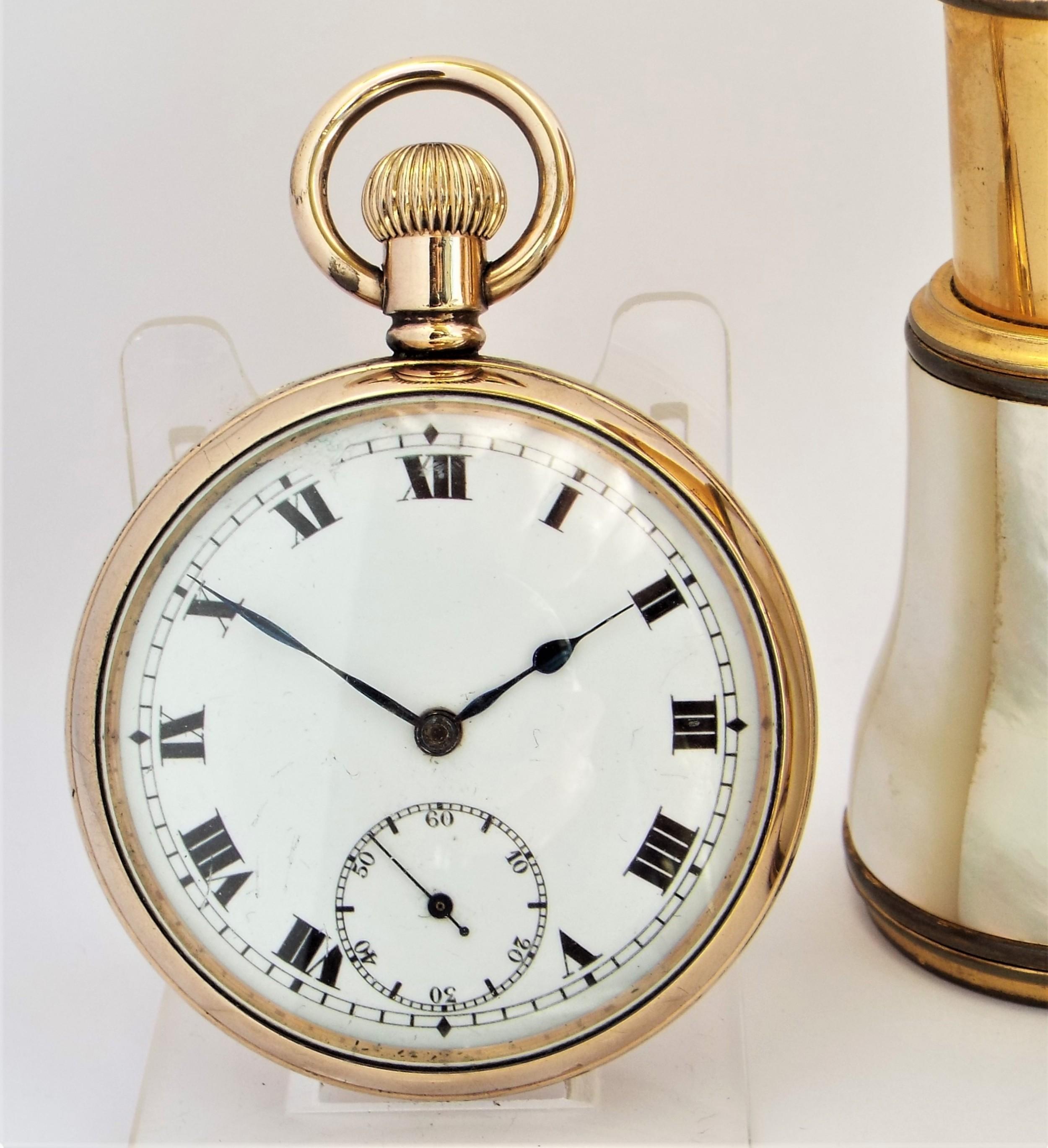 1930s record stem winding pocket watch