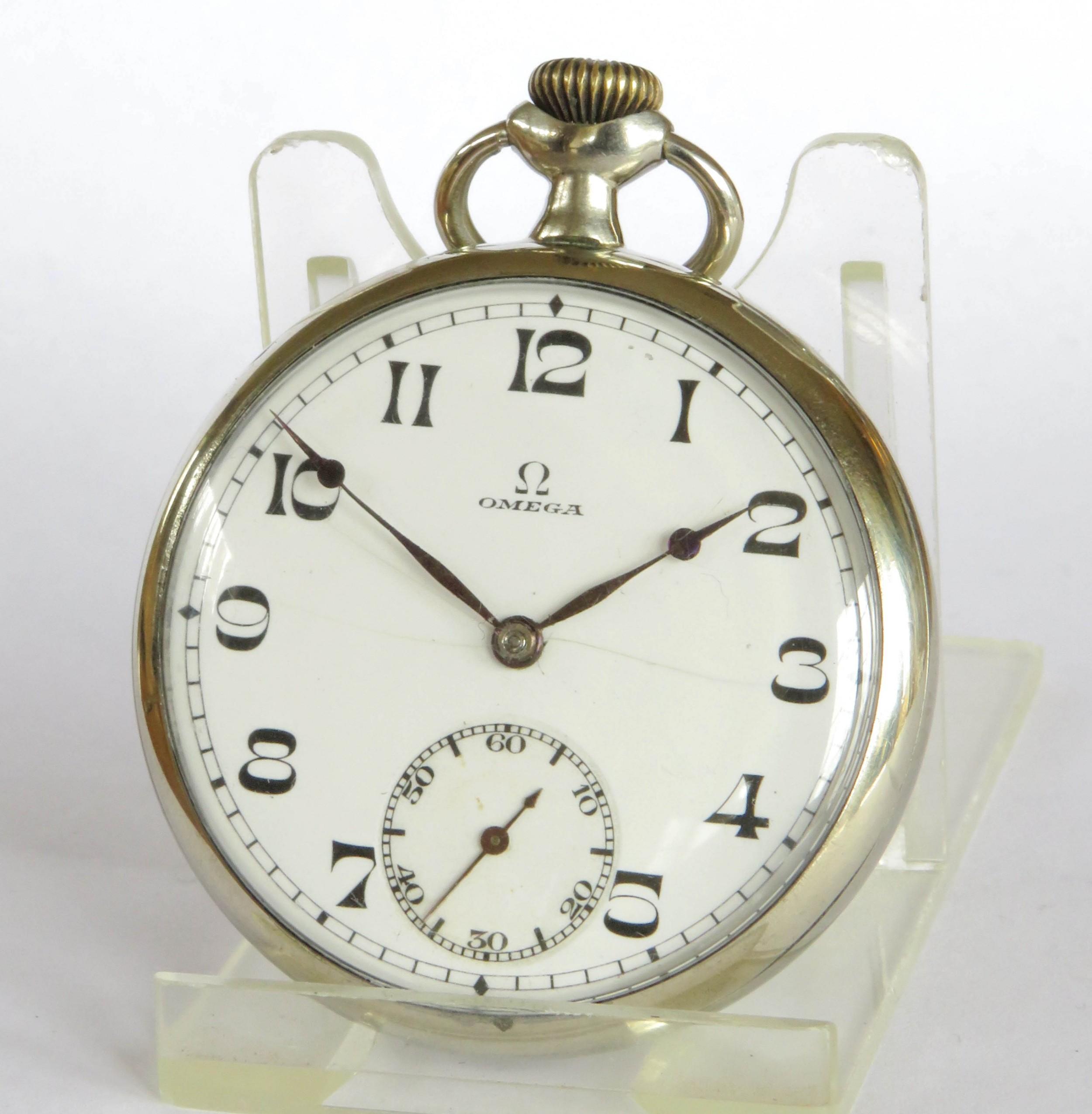 antique omega pocket watch 1924