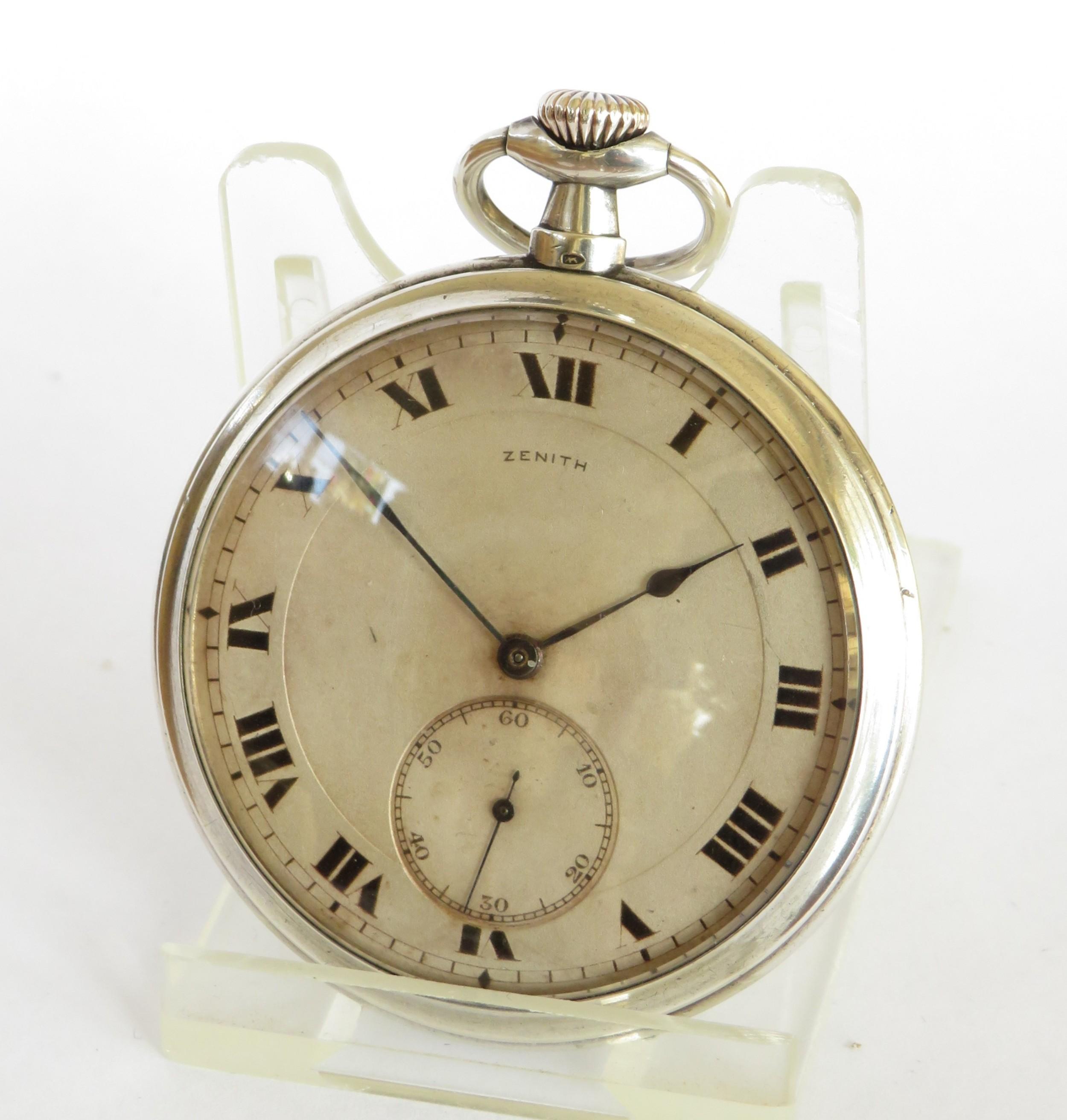 antique zenith pocket watch 1918