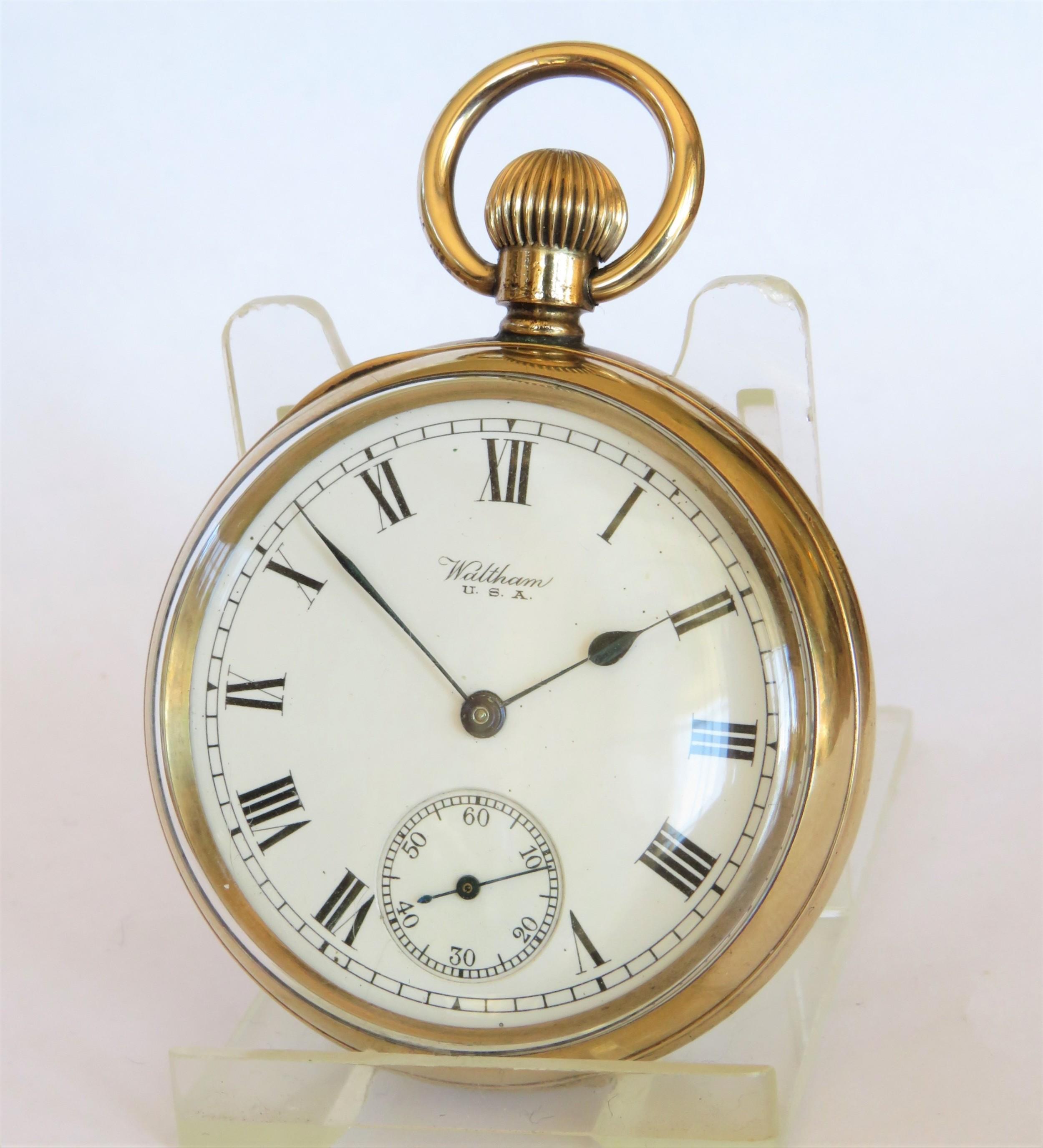 antique 1919 waltham pocket watch