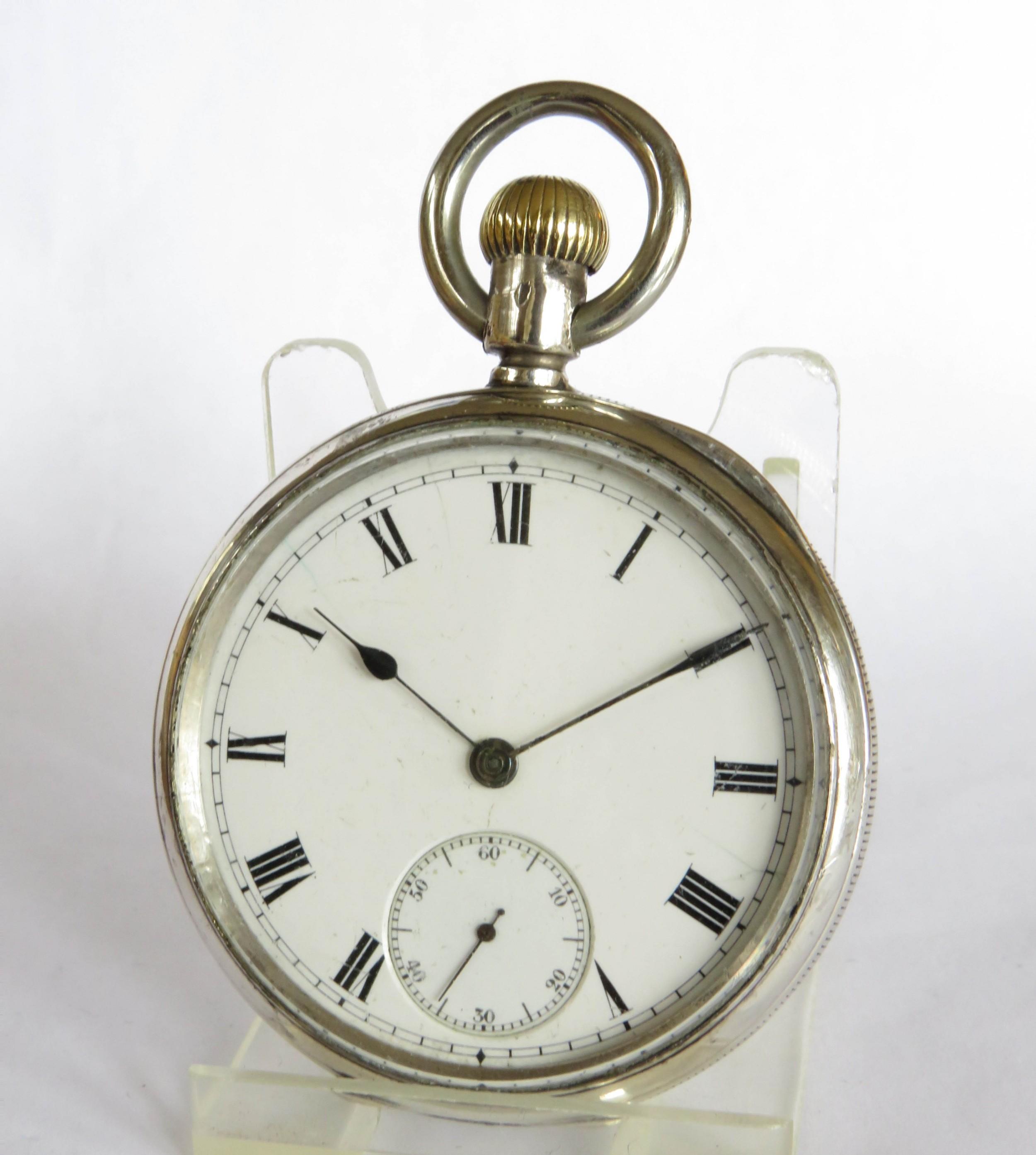 antique silver waltham pocket watch 1903