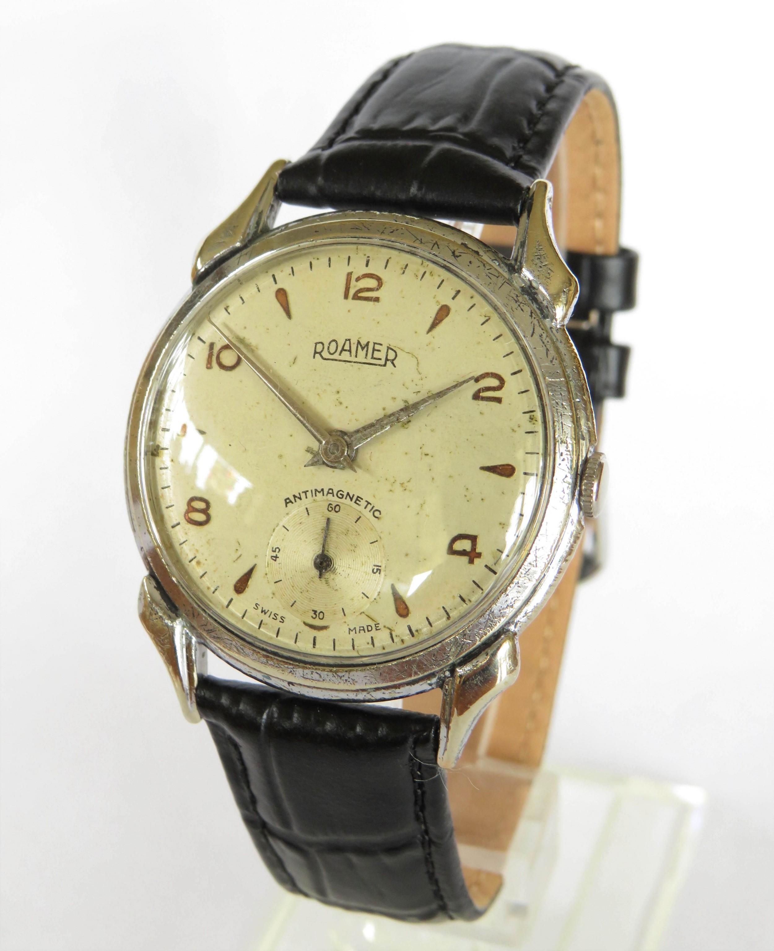 gents 1950s roamer wrist watch