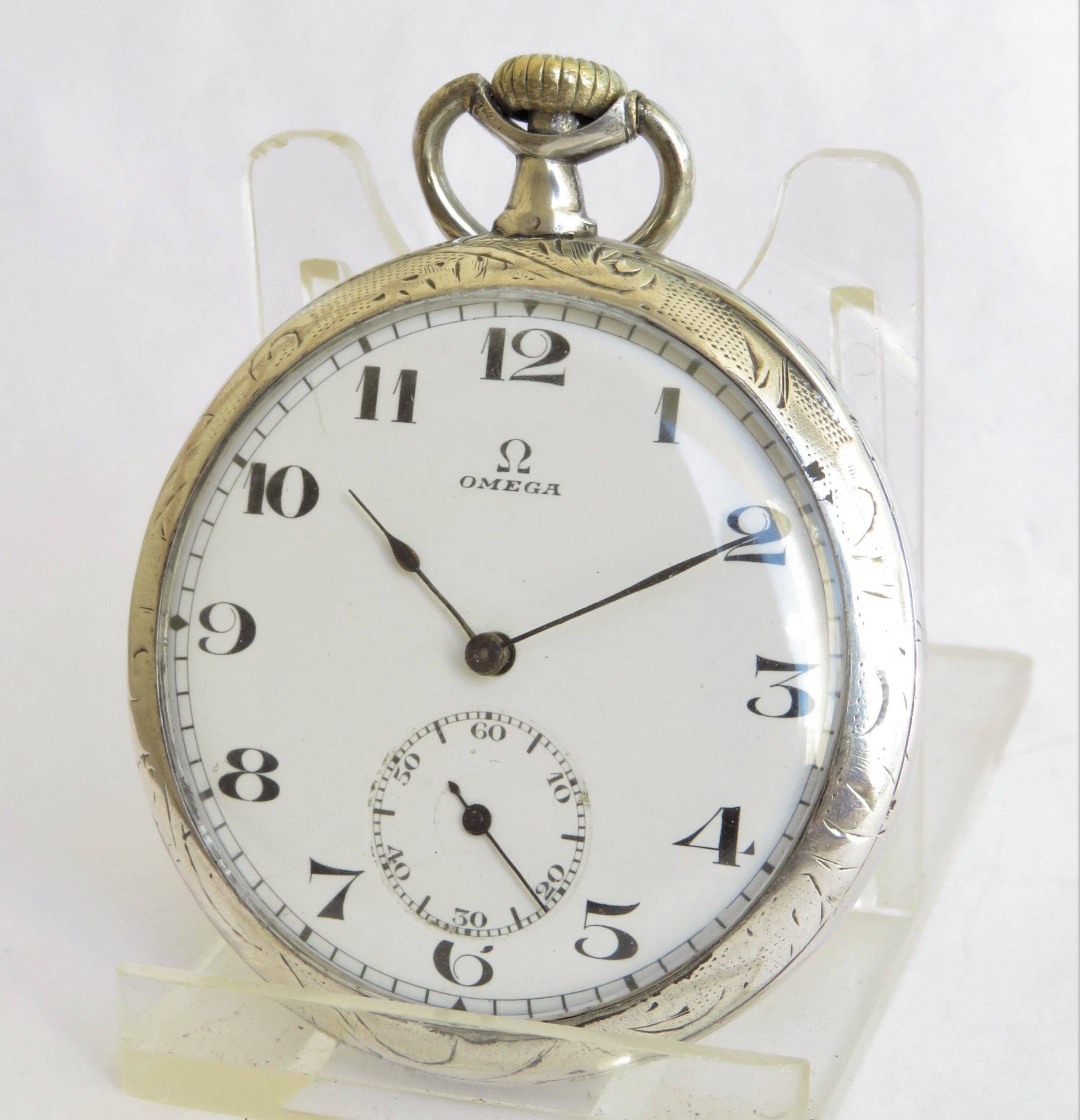 1920s omega silver pocket watch