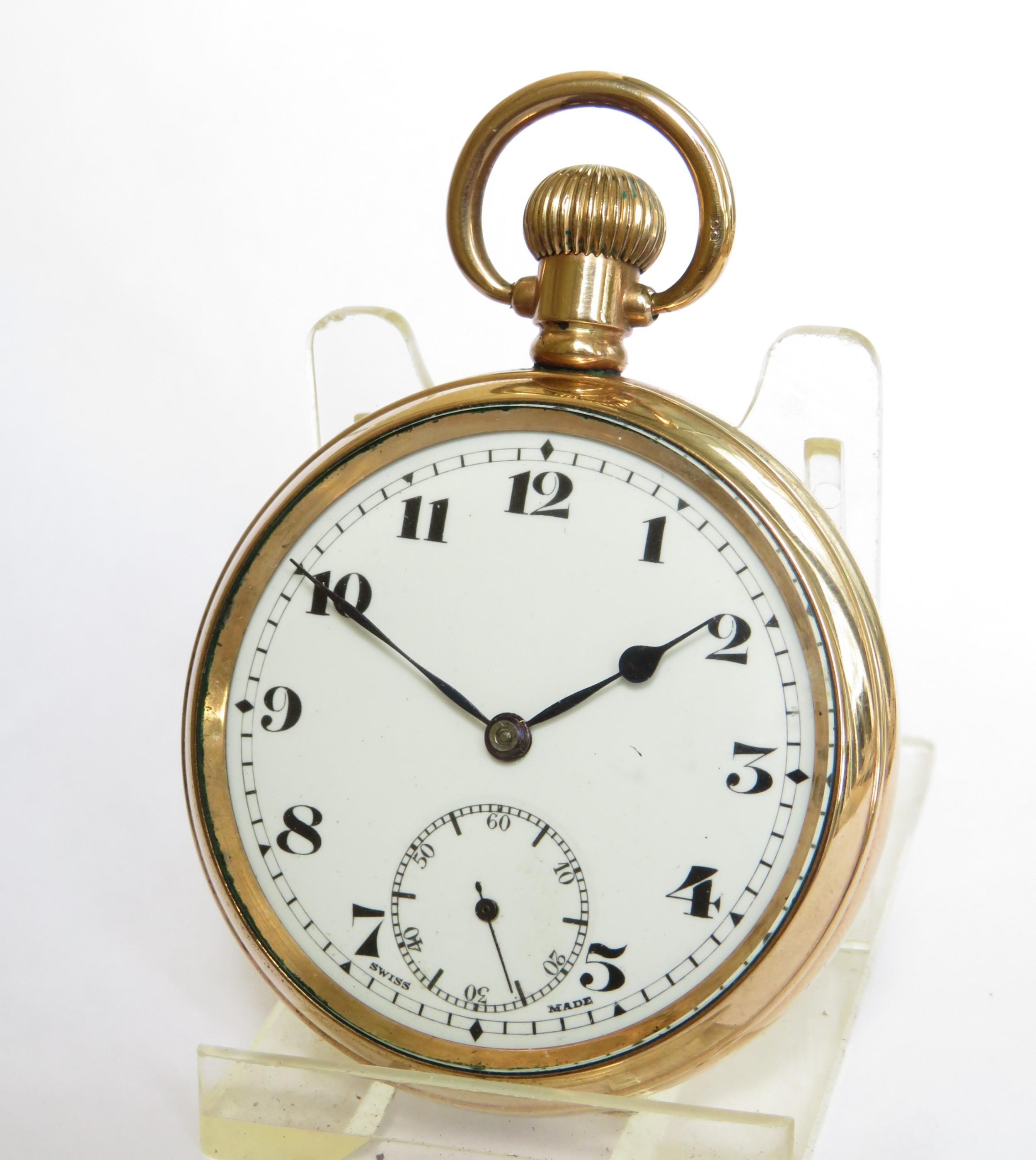 antique 1920s record stem winding pocket watch