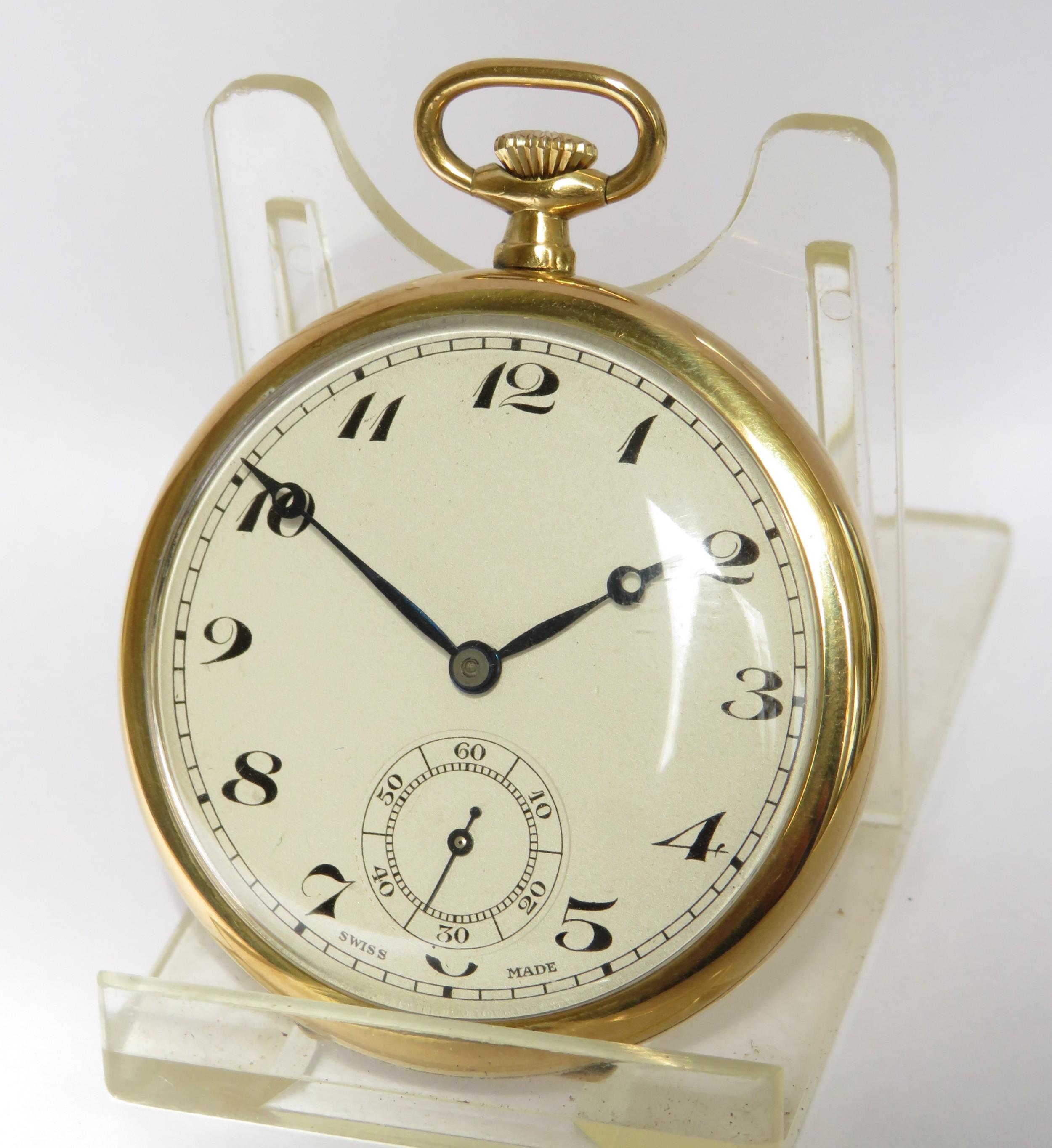 vintage 1920s swiss pocket watch