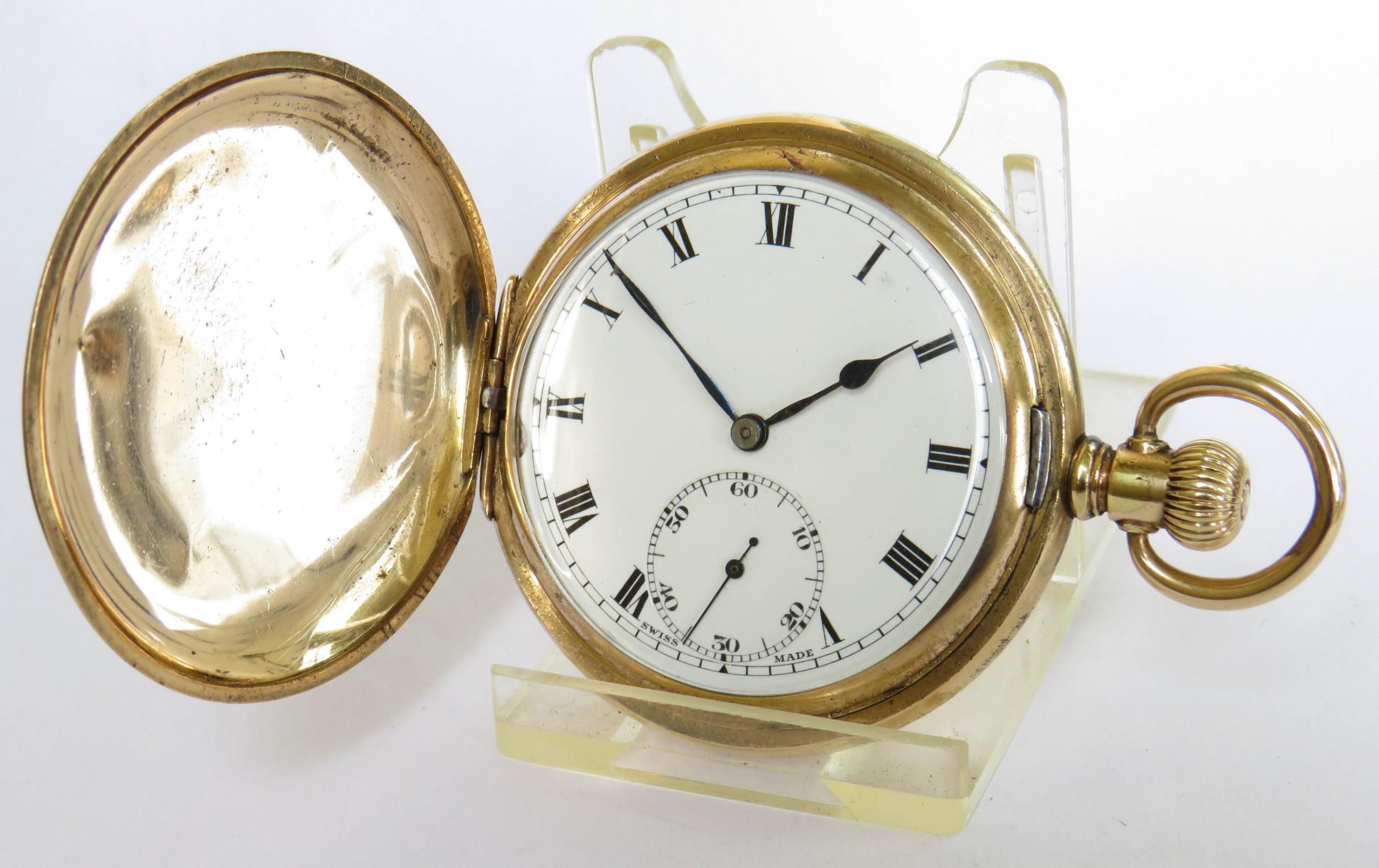 antique syren full hunter pocket watch