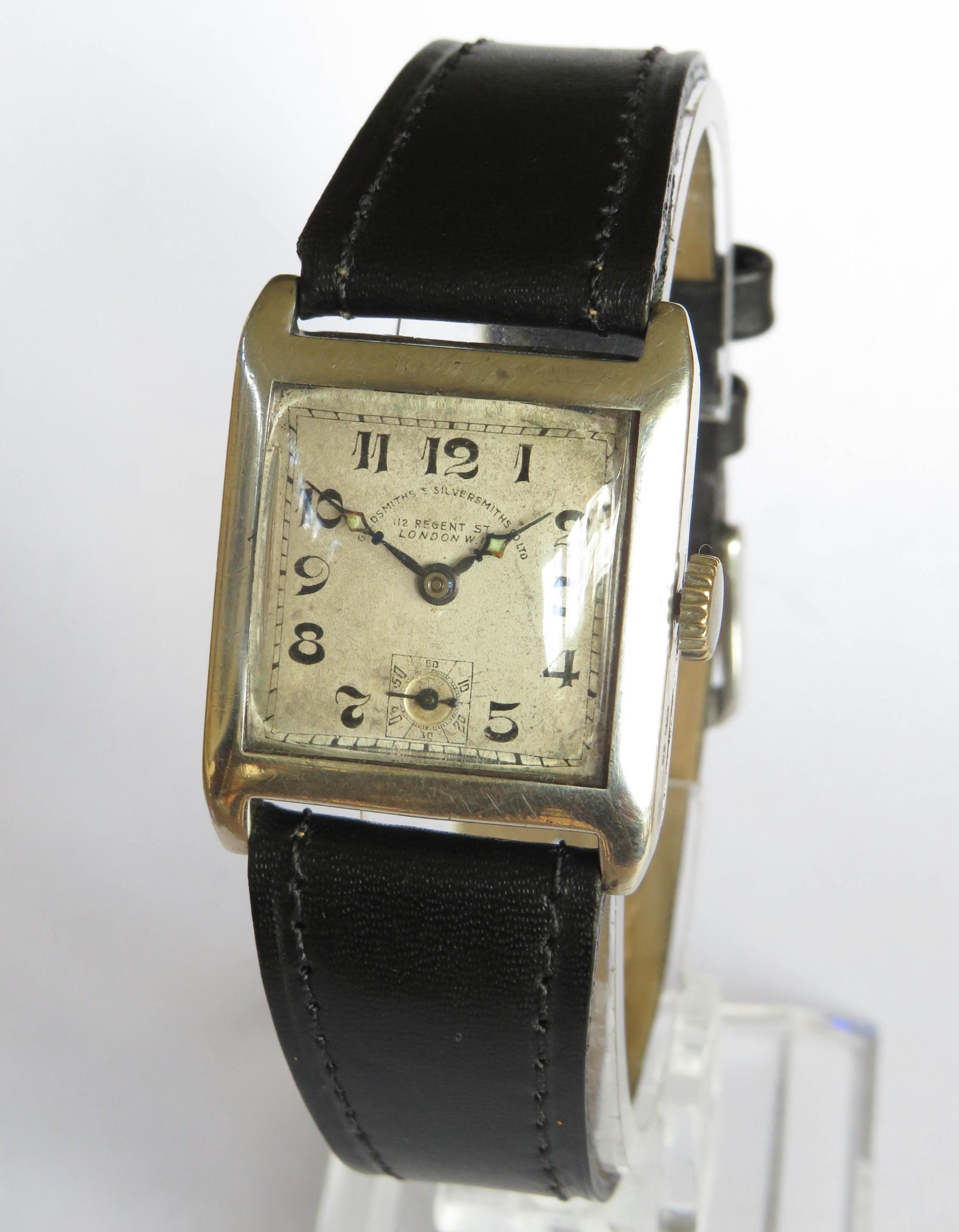 gents 1931 silver watch goldsmiths silversmiths
