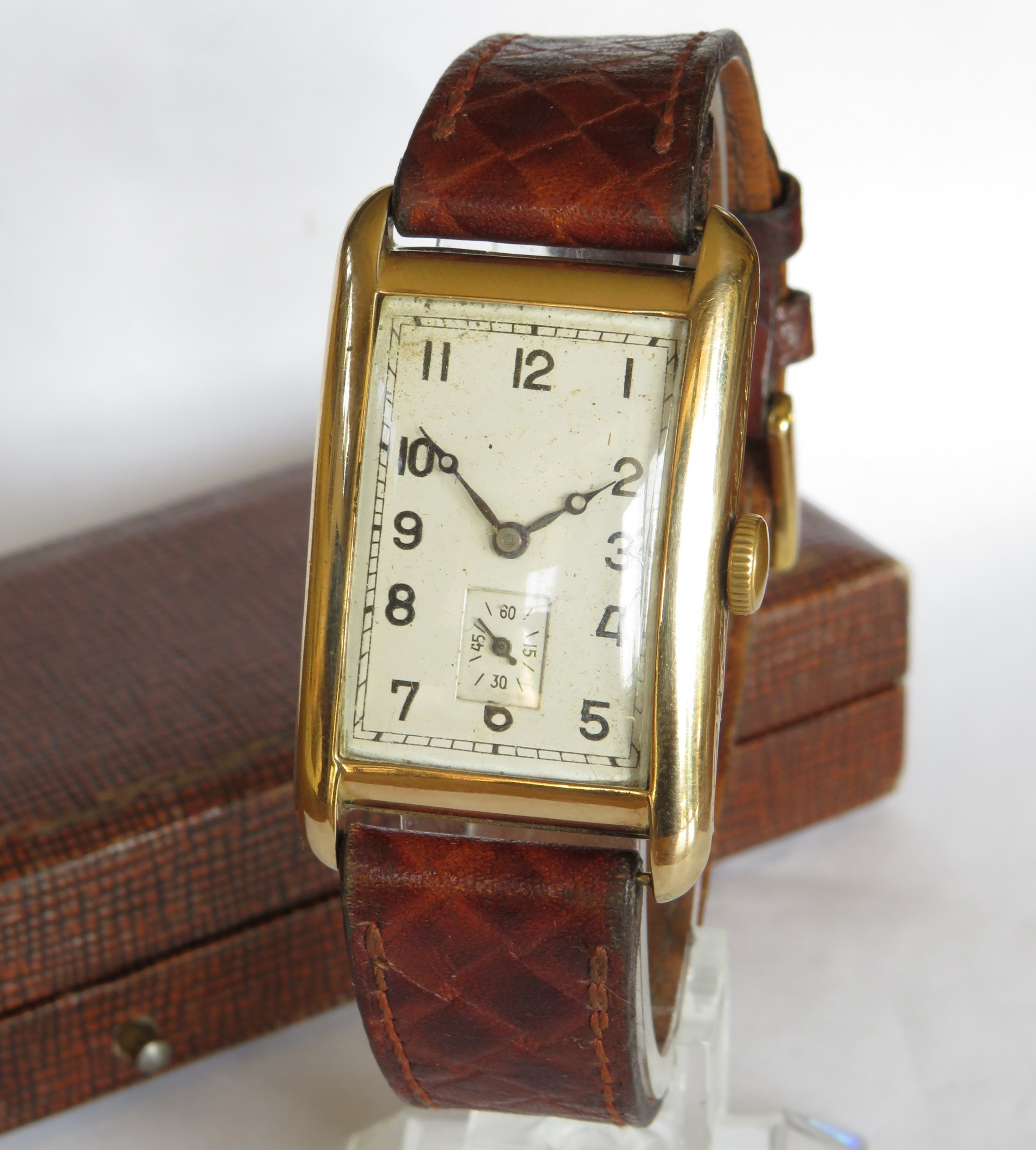 gents 9ct gold rotary wrist watch 1930