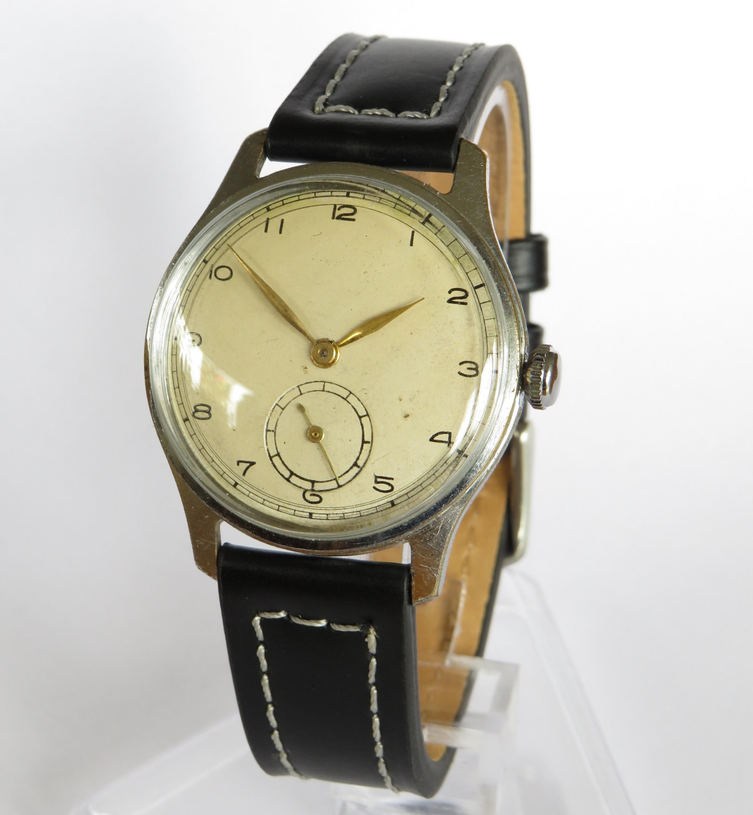 gents large tissot wrist watch 1943