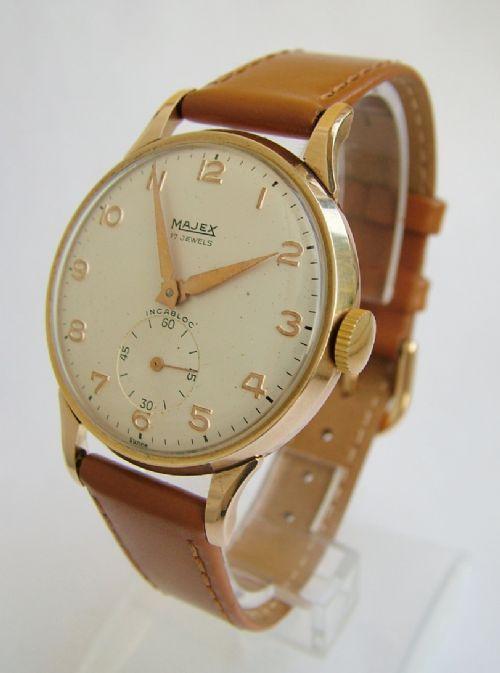 gents 9ct gold majex wrist 1959 311319
