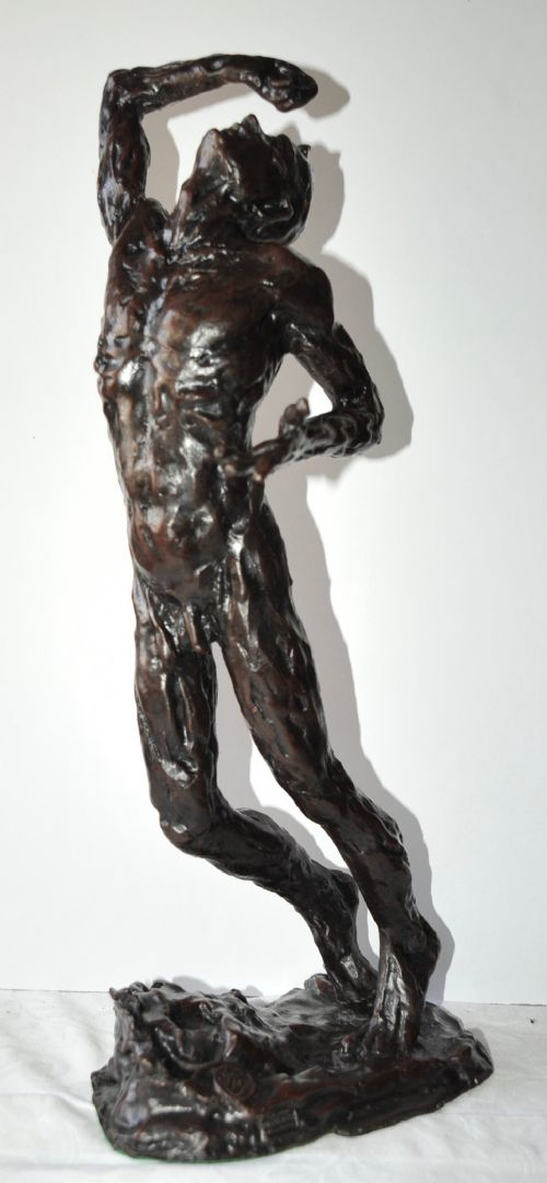 Superb Antique Male Nude Bronze by Gaudez For Sale