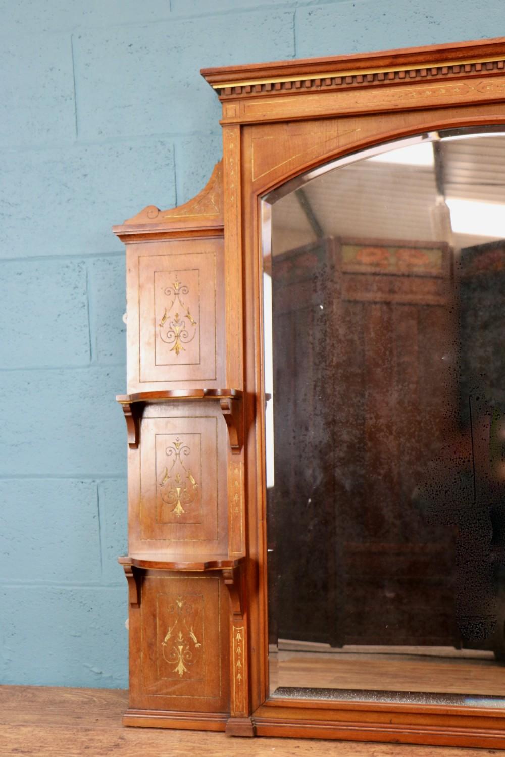 Aesthetic Movement Oak Overmantle Mirror 523171