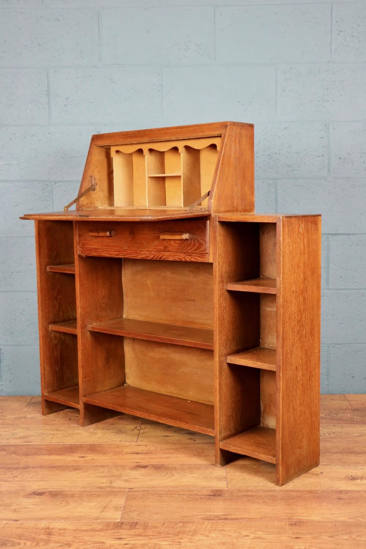 heals oak bureau bookcase