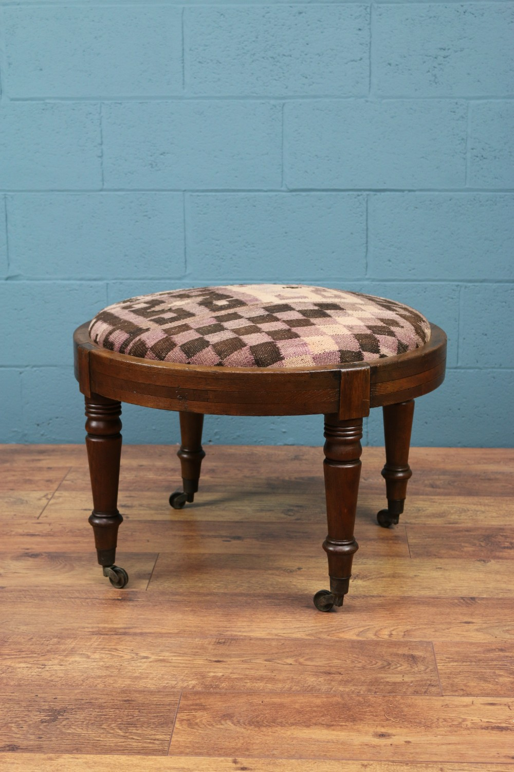 large william iv oak foot stool