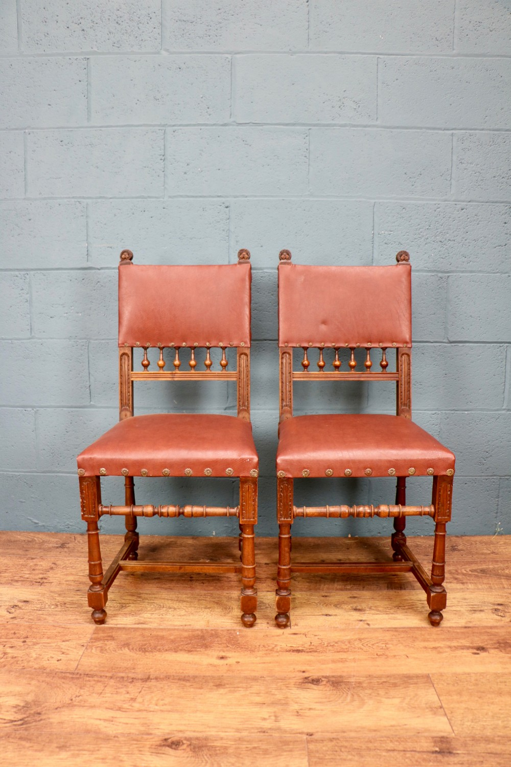 pair of edwardian chairs