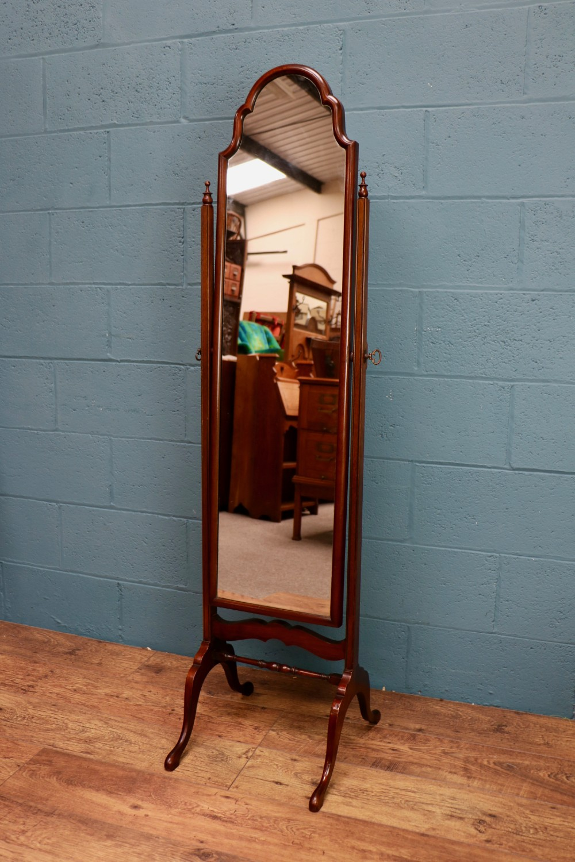mahogany cheval dressing mirror