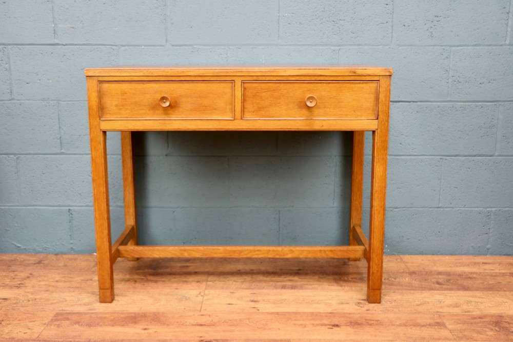 oak writing table in the style of cotswolds heals