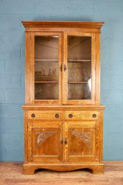 Large Pine Breakfront Bookcase 470860 Sellingantiques Co Uk