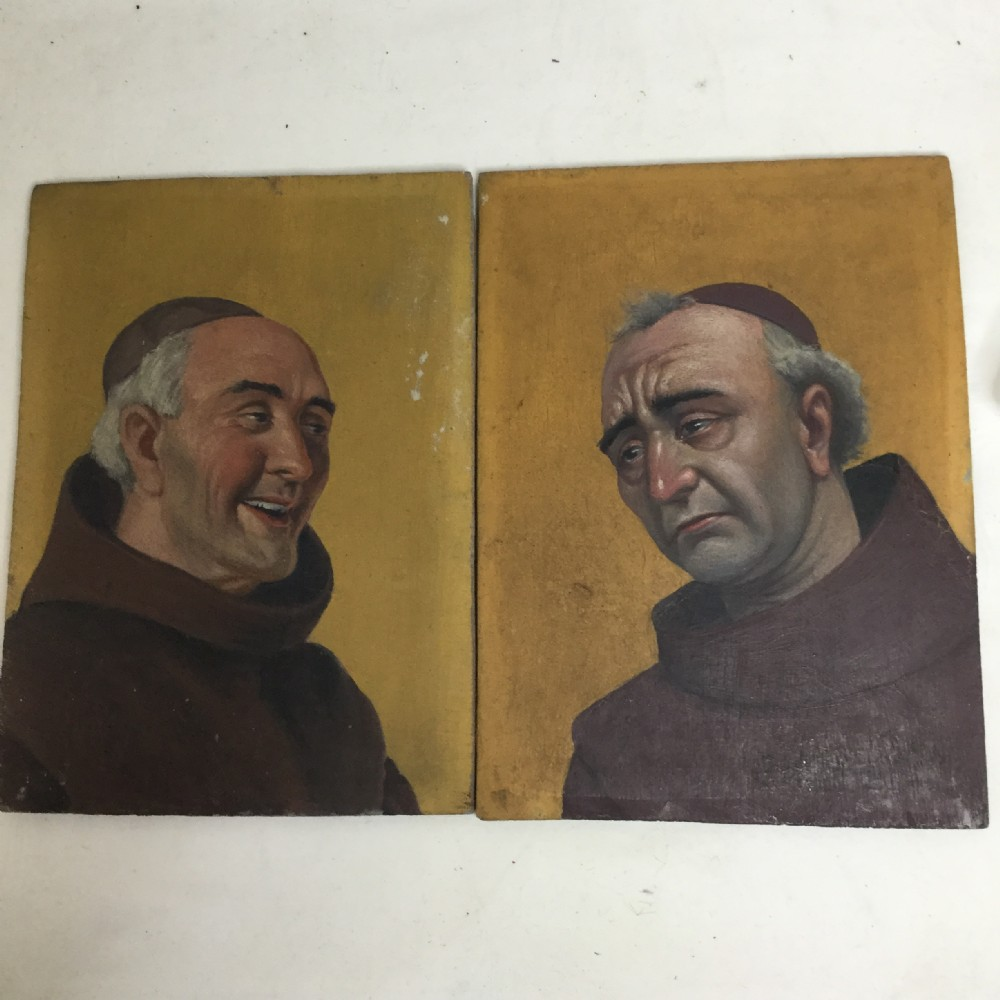 pair of oil paintings by j h godfroy oil on board