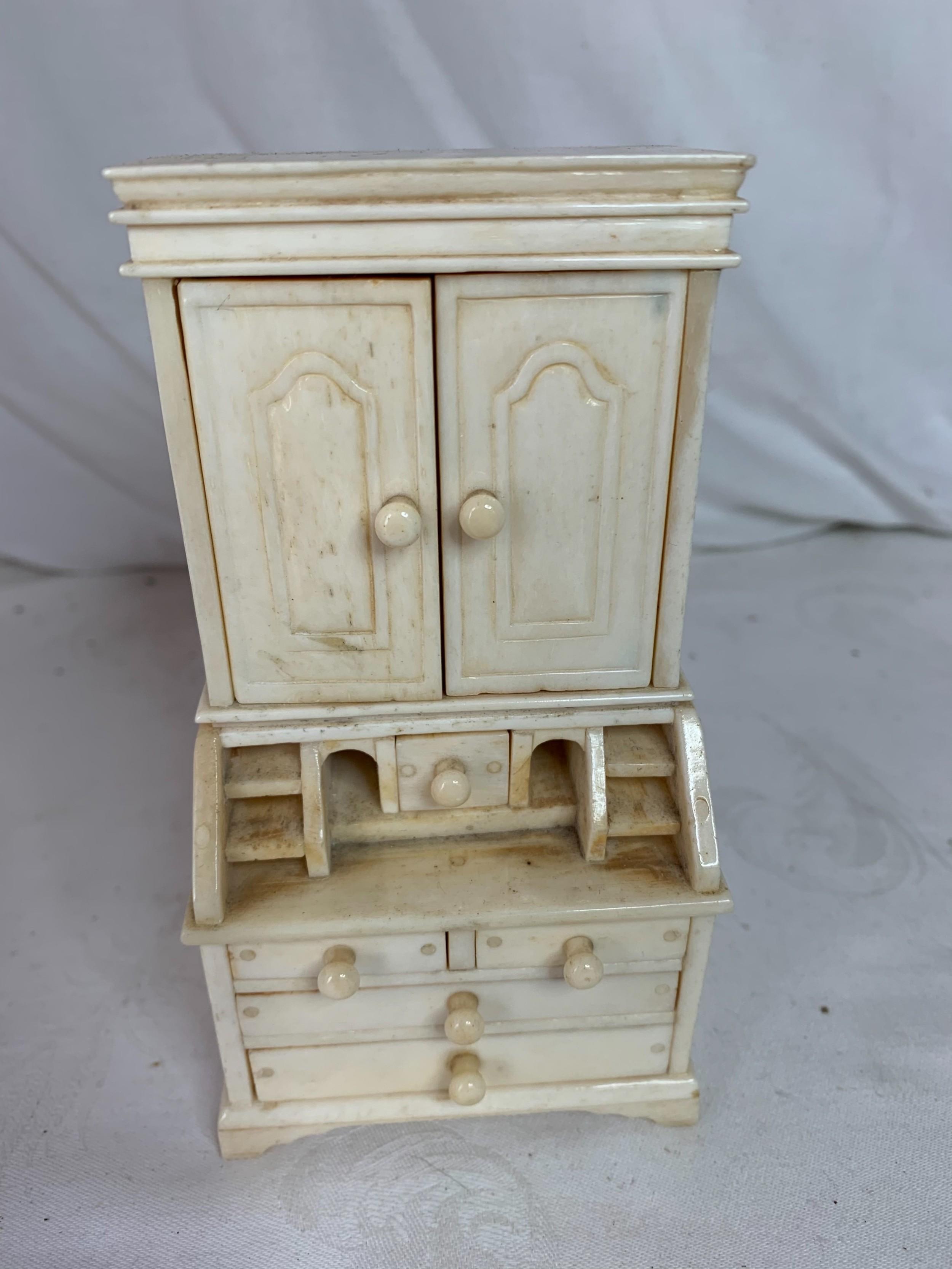 ivory miniature secretaire