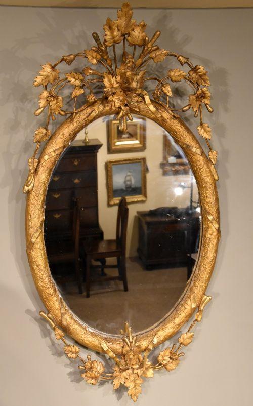 19th century gilded wall mirror