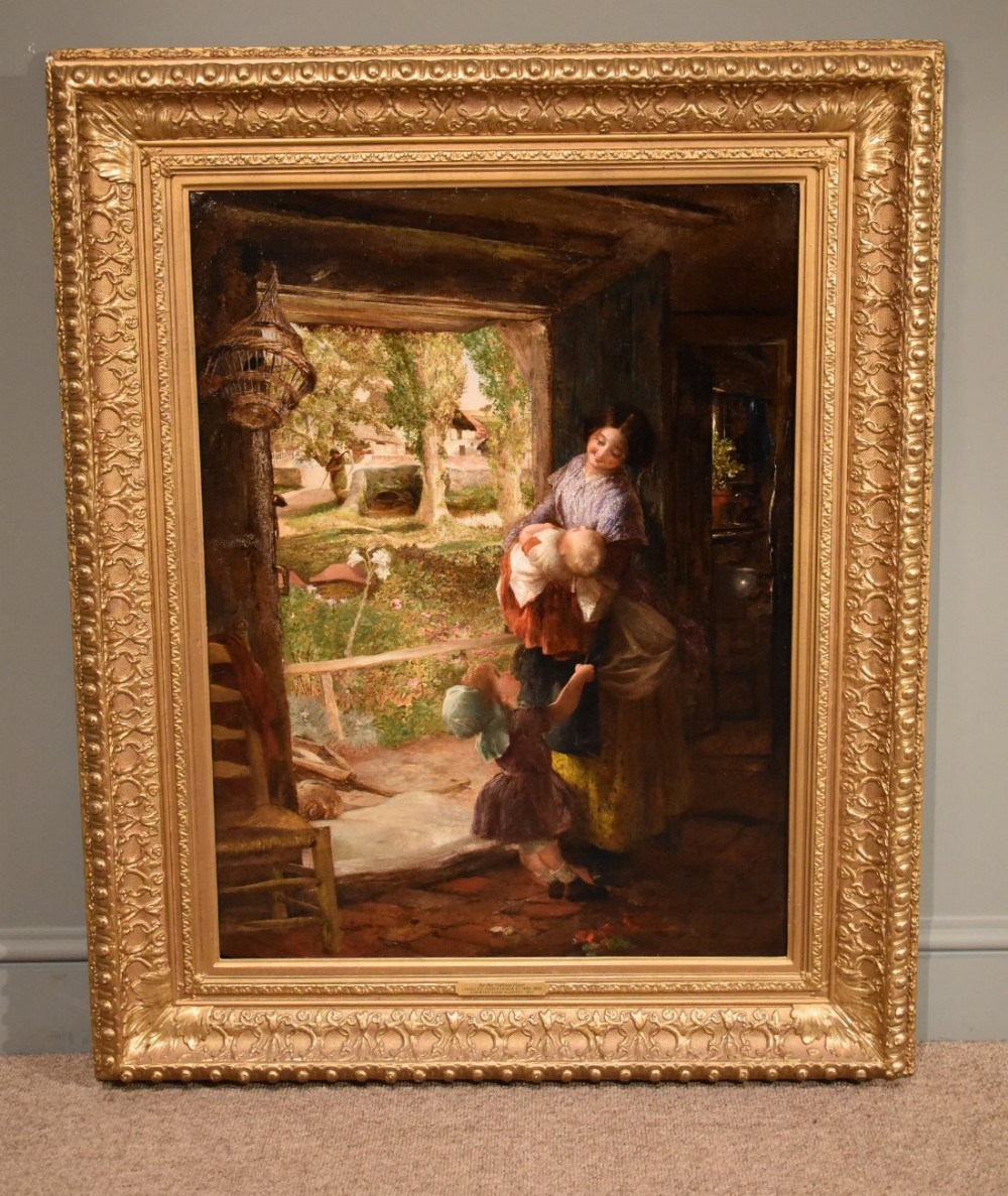 by the cottage door oil by charles lewis