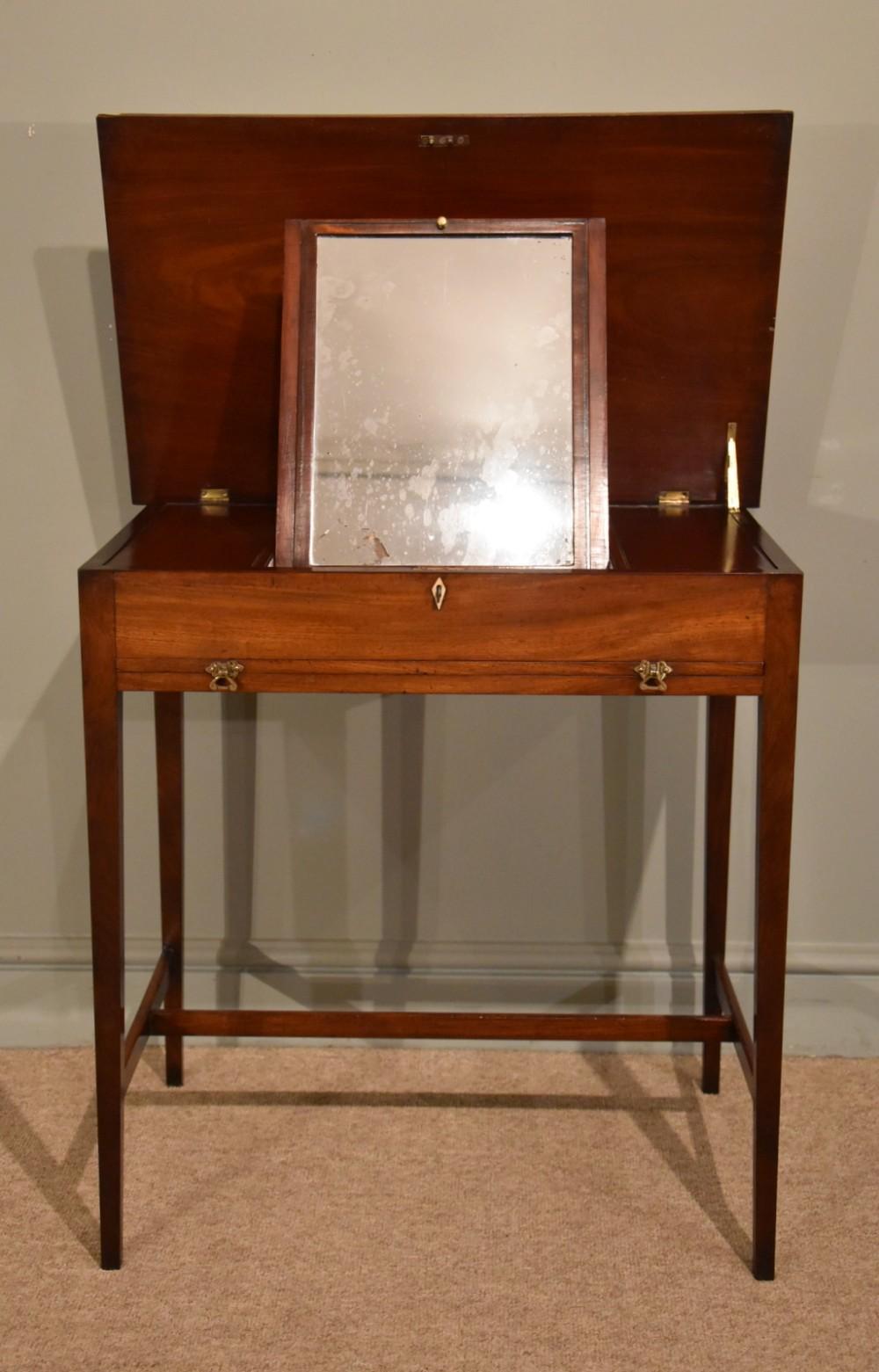 an elegant 19th century mahogany dressing table